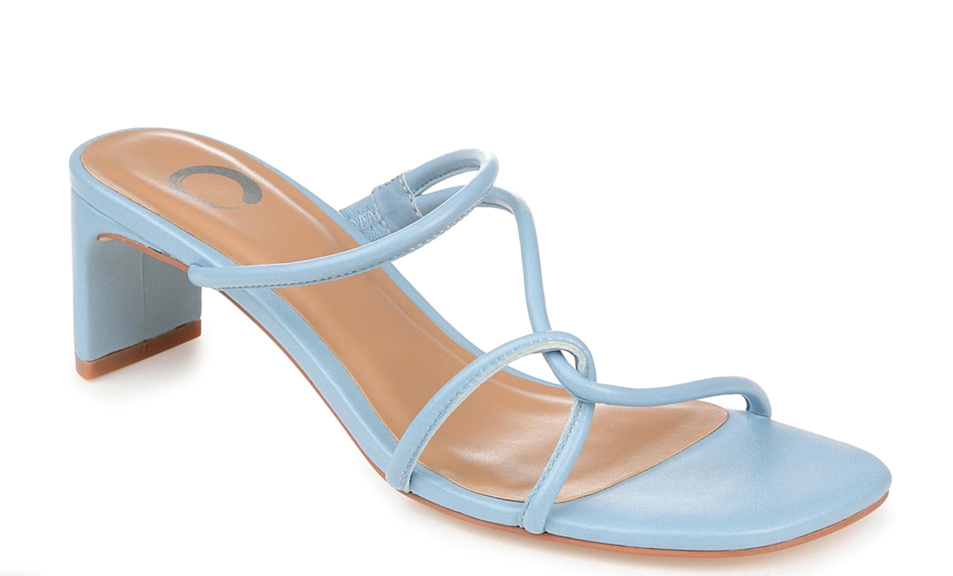 journee zapatos azul tacon