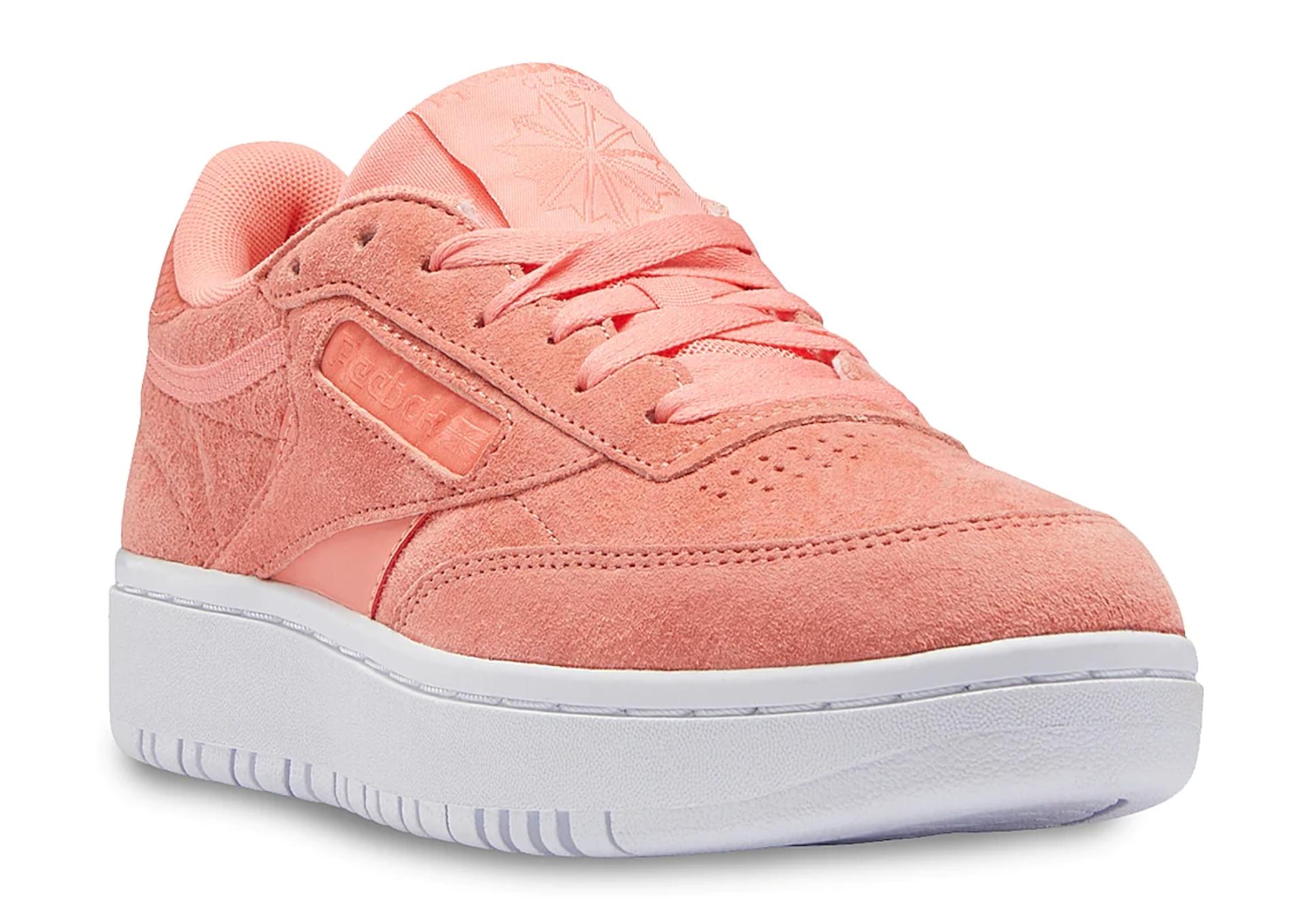 reebok, zapatos, tenis rosa