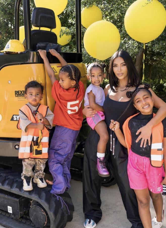 Kim Kardashian e hijos