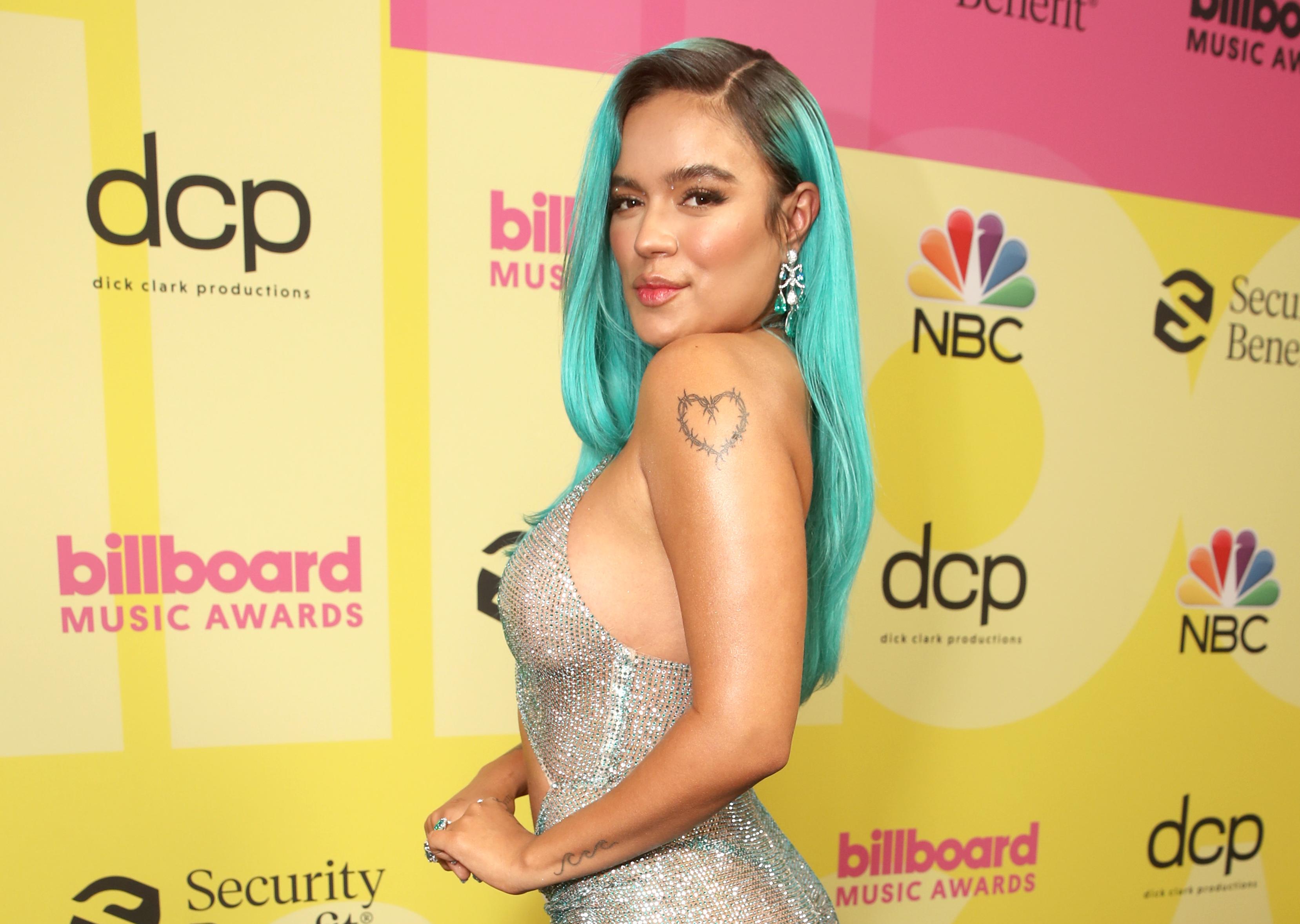Karol G revelador vestido Billboard 2021
