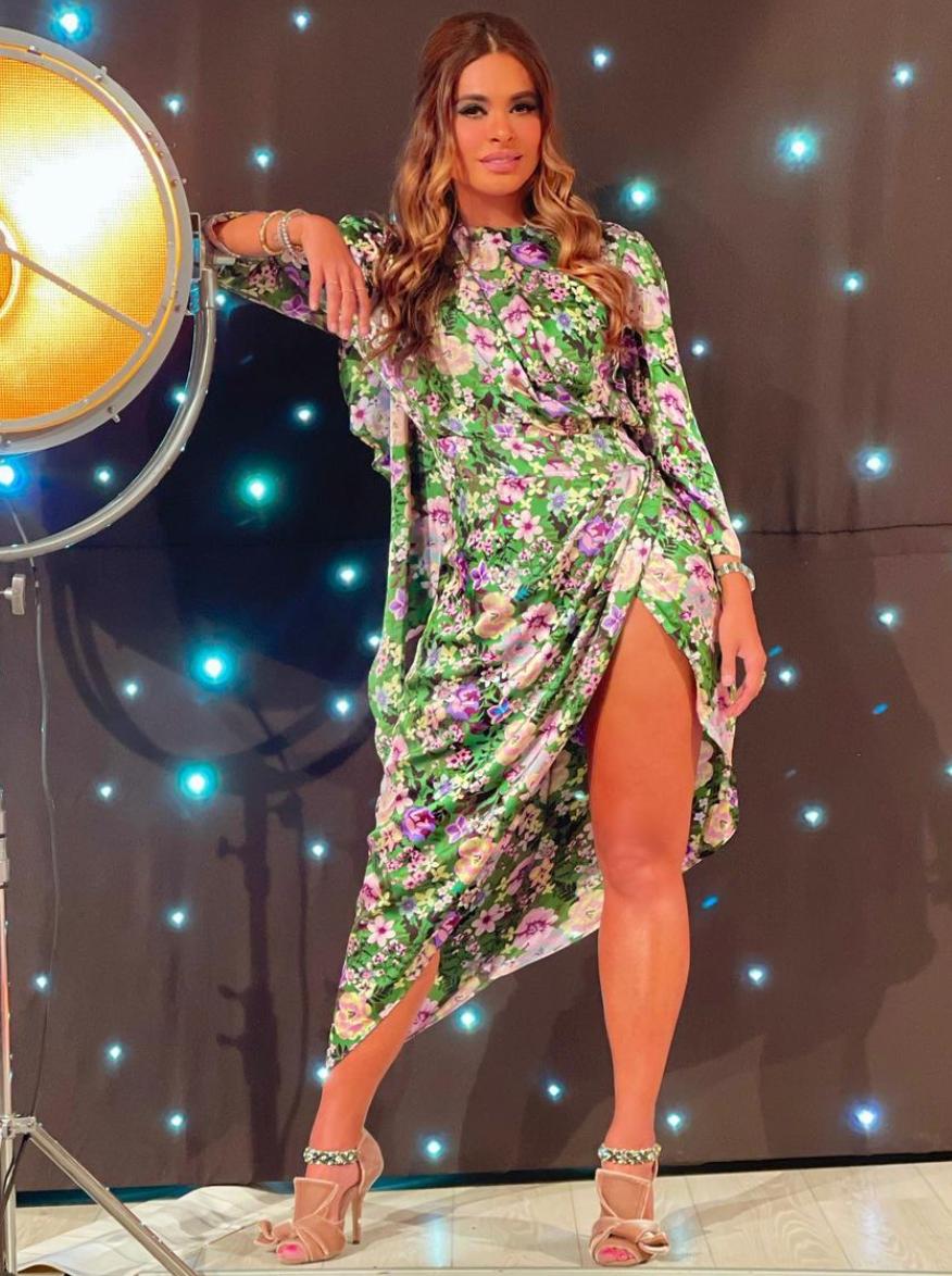 Galilea Montijo, look del dia, vestido estampado floral