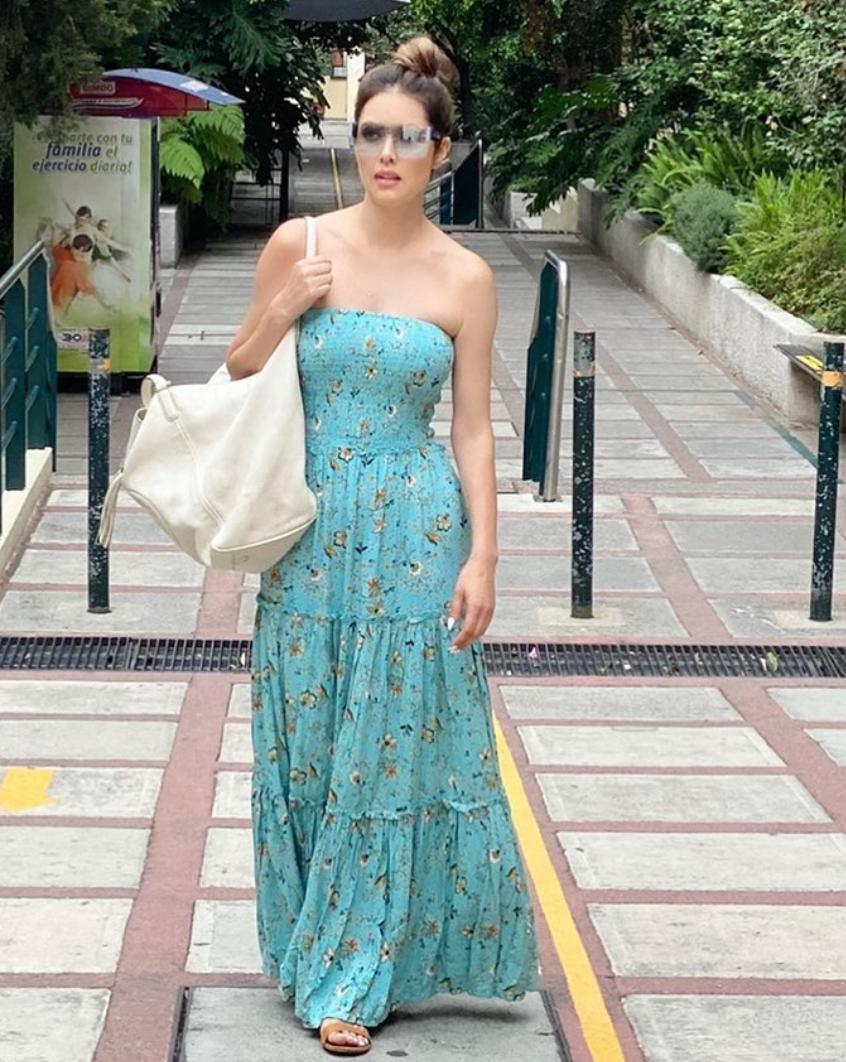 Marlene Favela, look del dia, vestido maxi