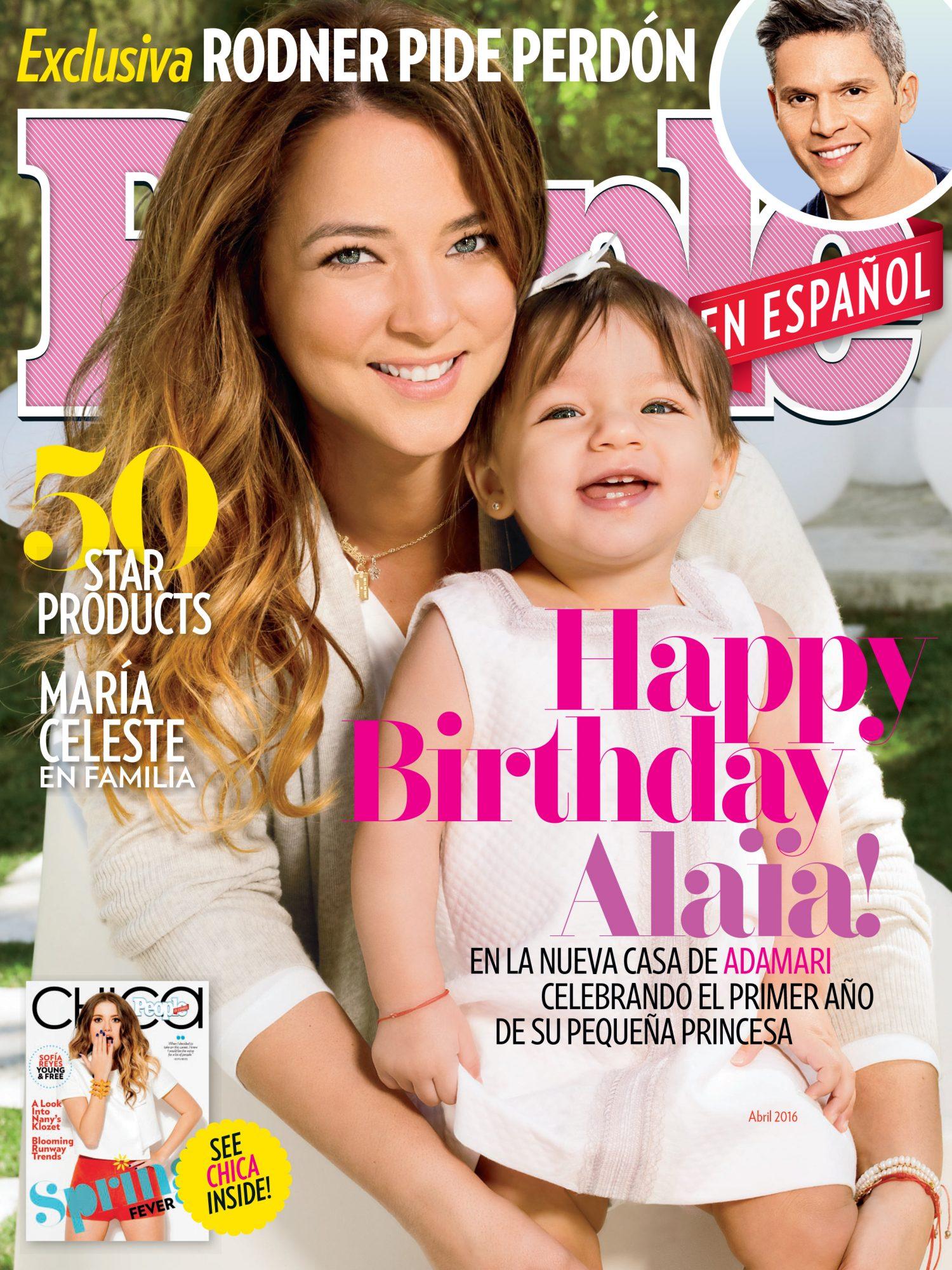Adamari Lopez y Alaia - Abril 2016 portada COVER