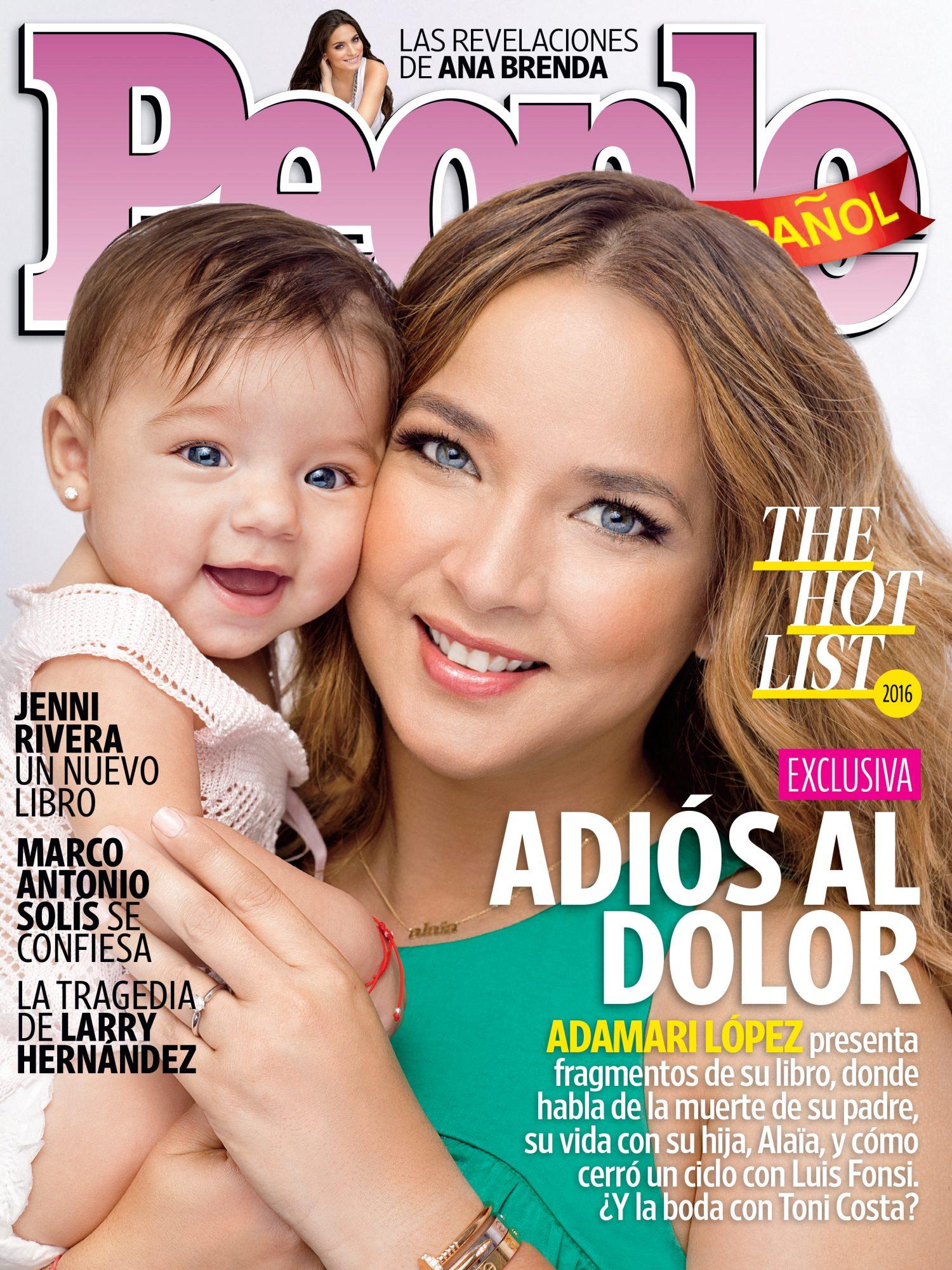 Adamari Lopez y Alaia - Diciembre 2015 : Enero 2016 Portada COVER
