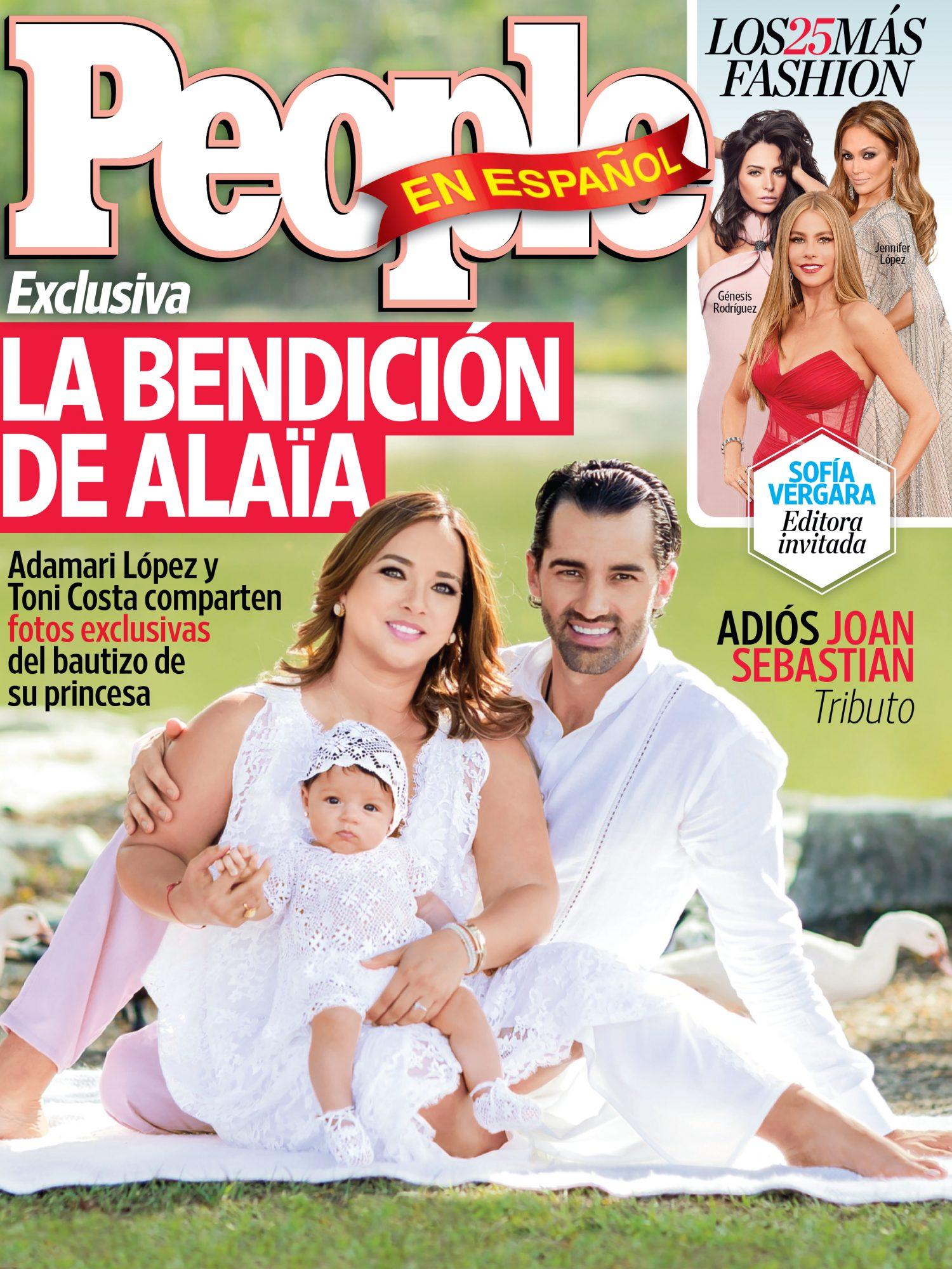 Adamari Lopez y Toni Costa - Septiembre 2015 Portada Cover