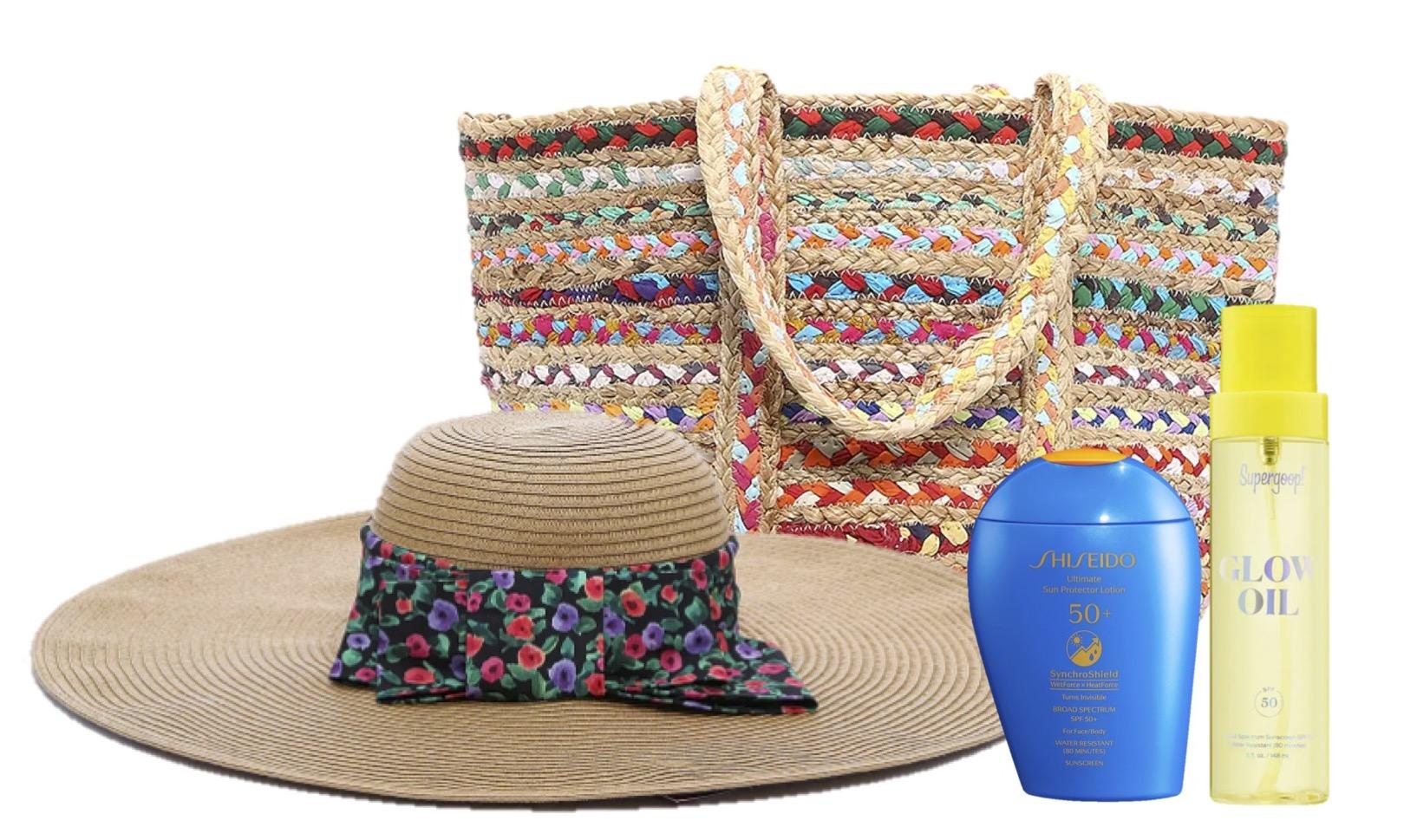 esenciales de verano, playa, shiseido, supergoop