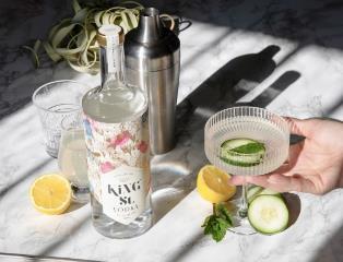 limonada de pepino con vodka