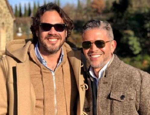 Rodner Figueroa y su esposo Ernesto Mathies