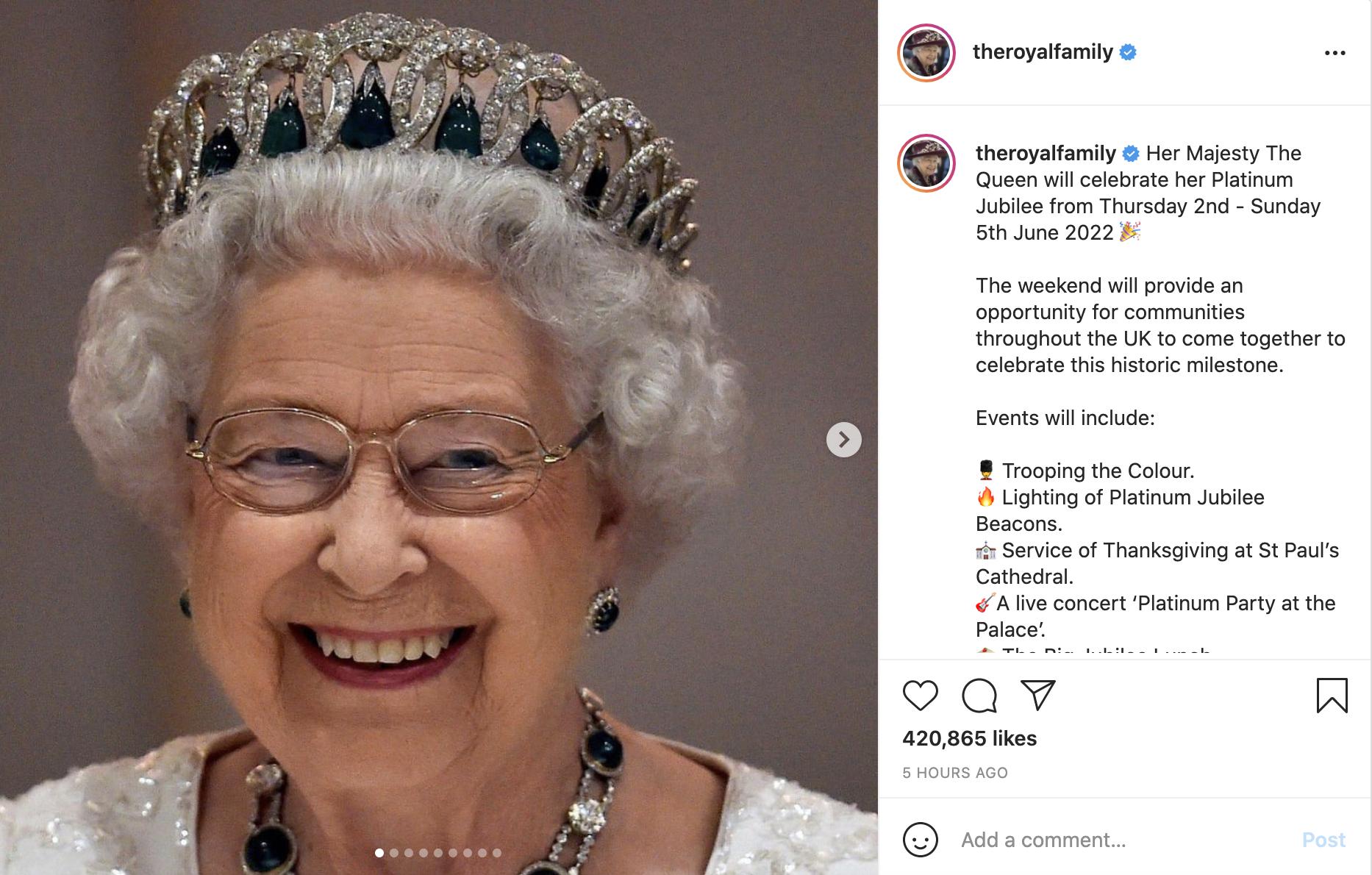 Aniversario de la reina Isabel II