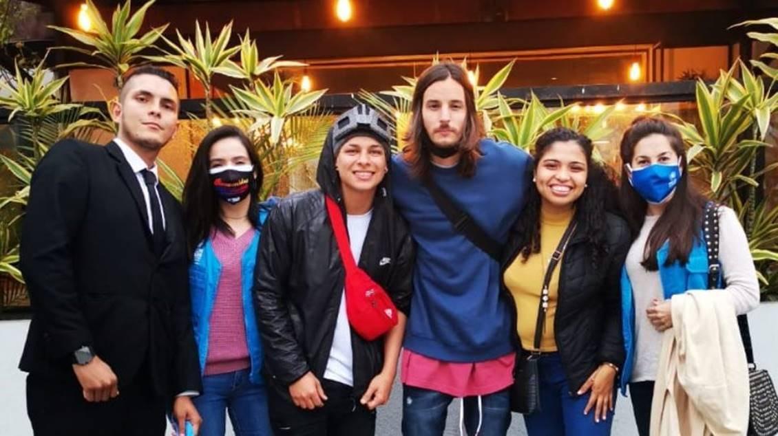 DANNY OCEAN se reune con refugiados venezolanos en Perú
