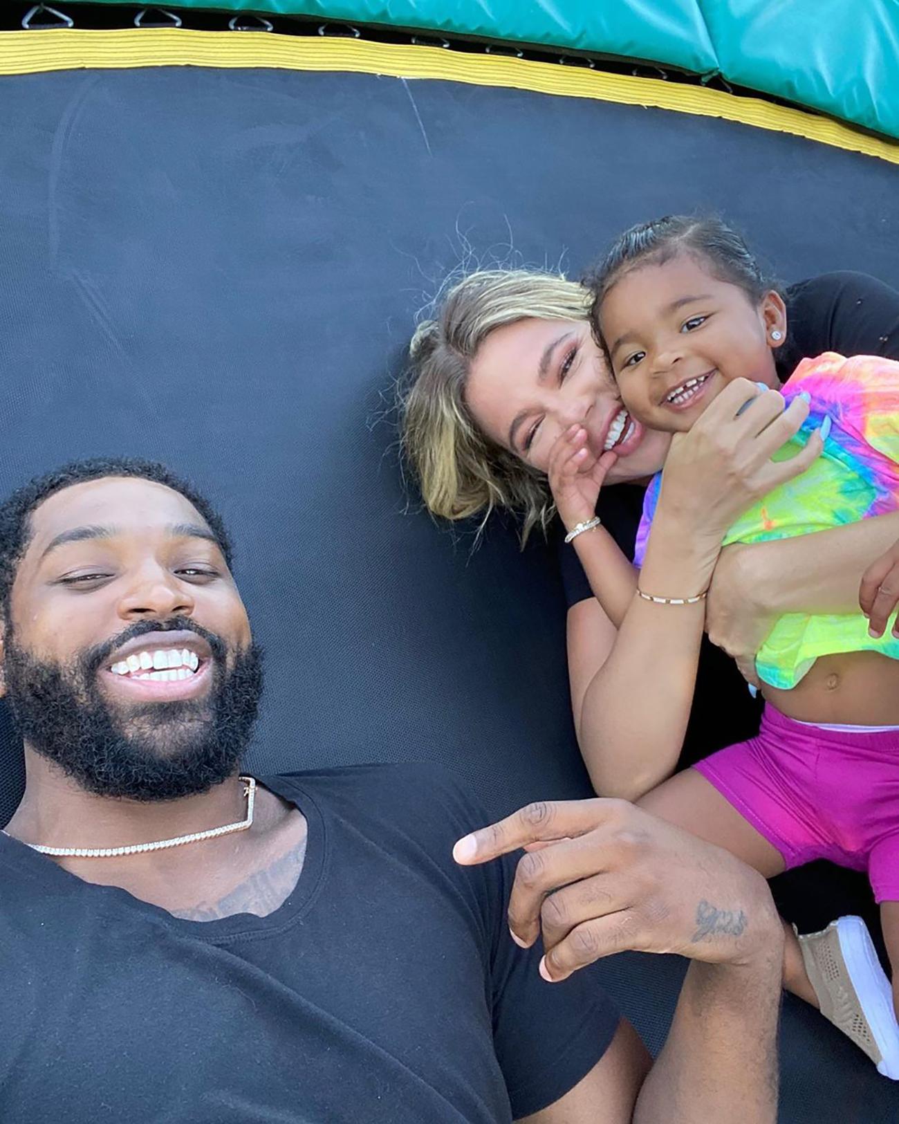 Tristan, Khloe y su hija