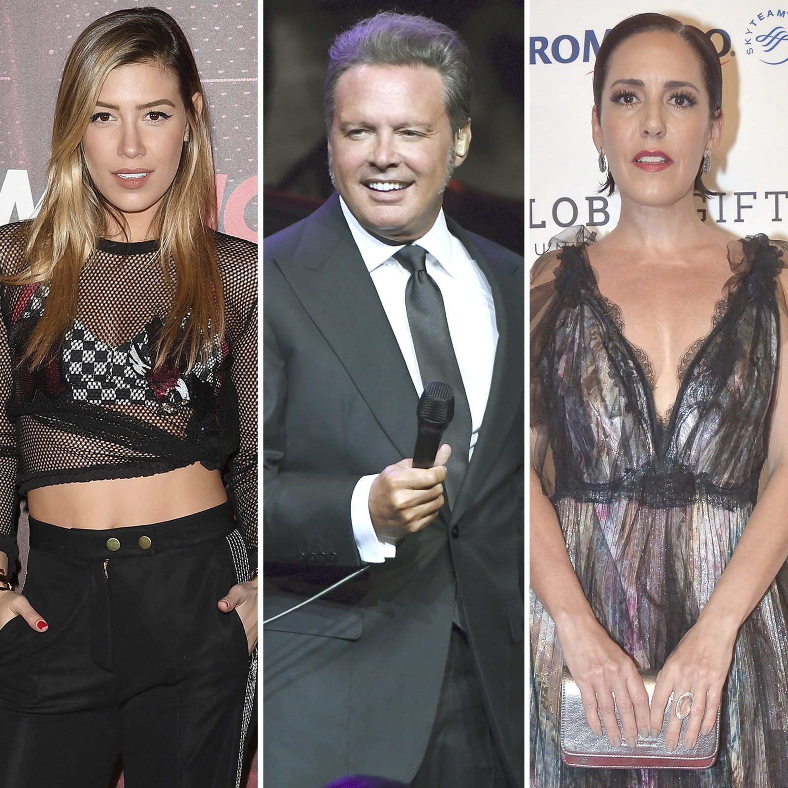 Michelle Salas, Luis Miguel y Stephanie Salas