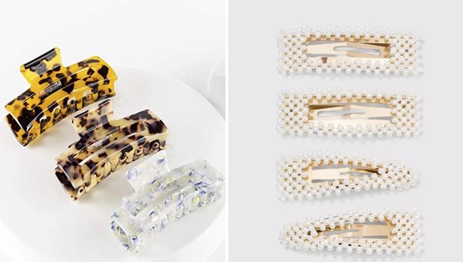 accesorios de pelo verano, hebillas, clips