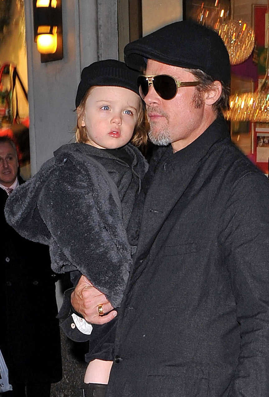 Brad Pitt y Shiloh Pitt