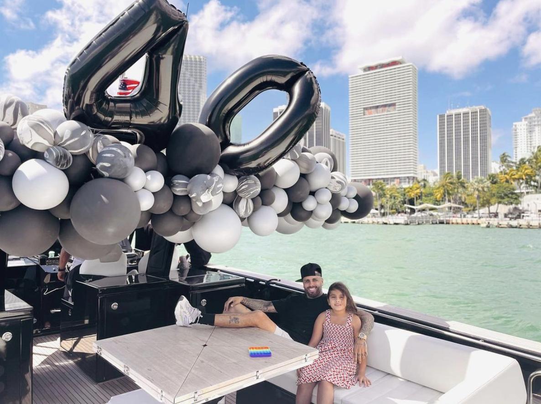Nicky Jam con su hija