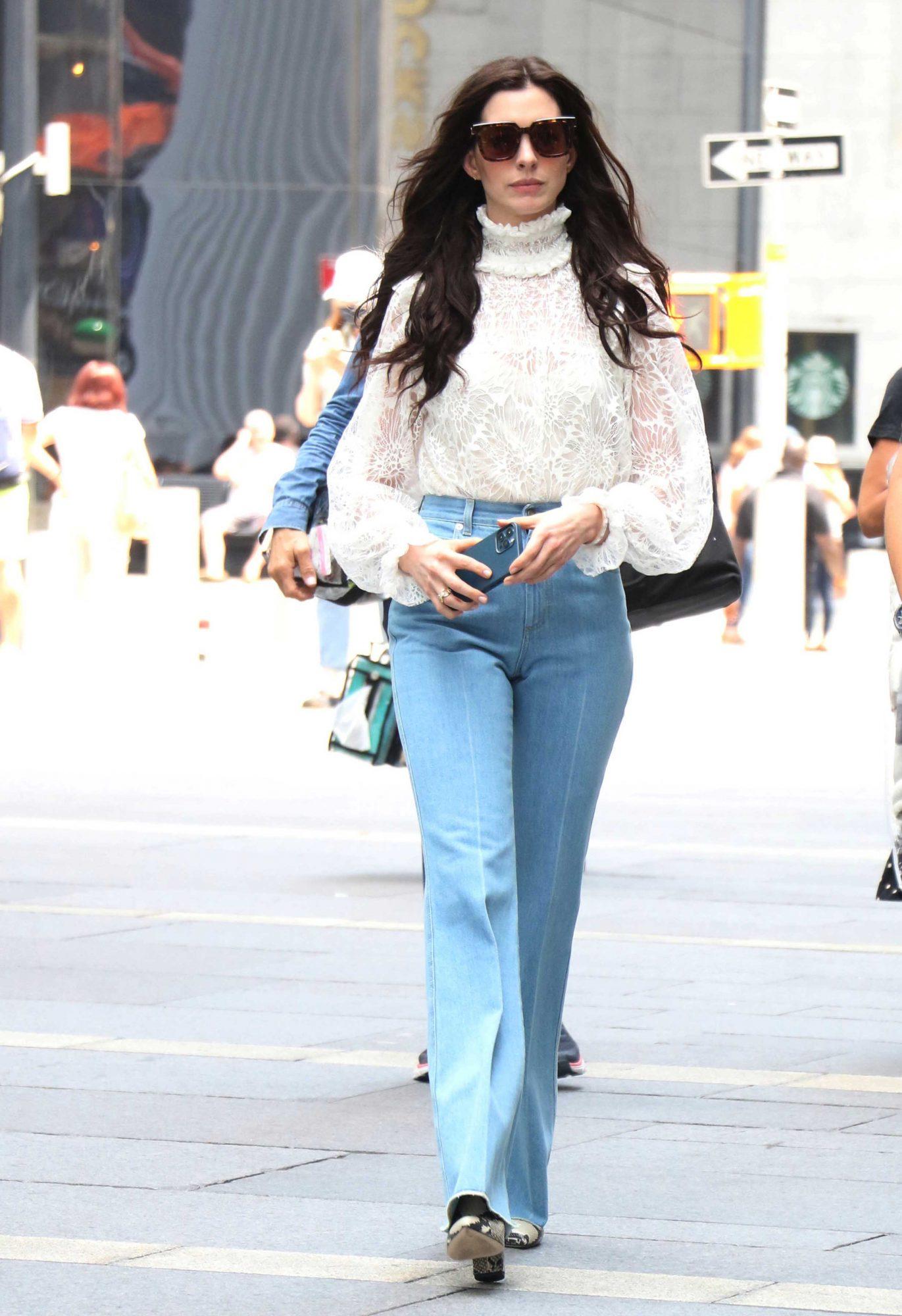Anne Hathaway, look del dia, New York