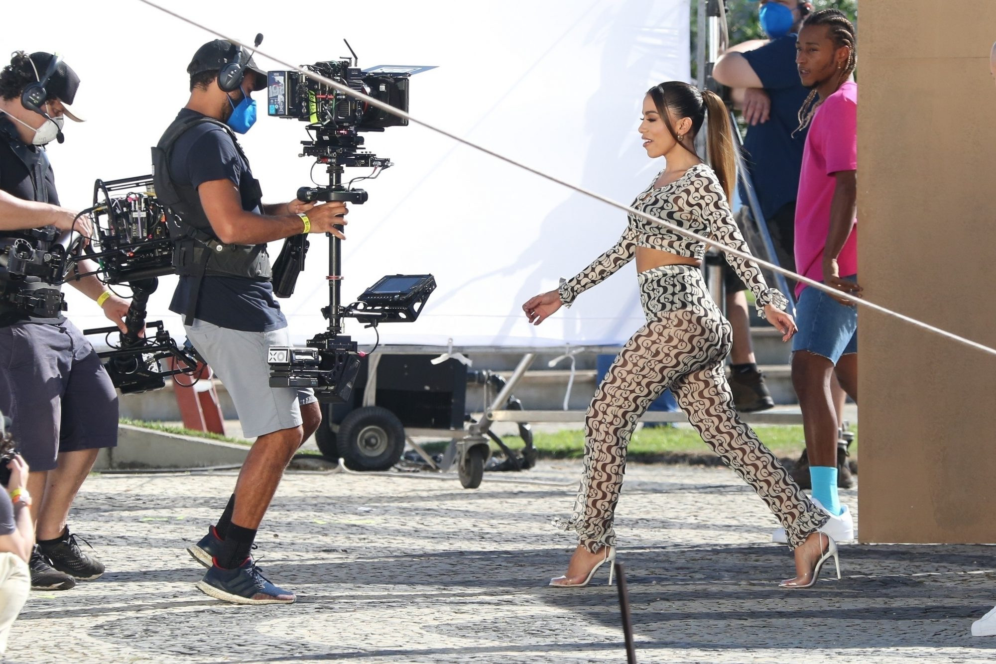 Anitta Dances and Films with Stunt Bike Riders for her Latest Project