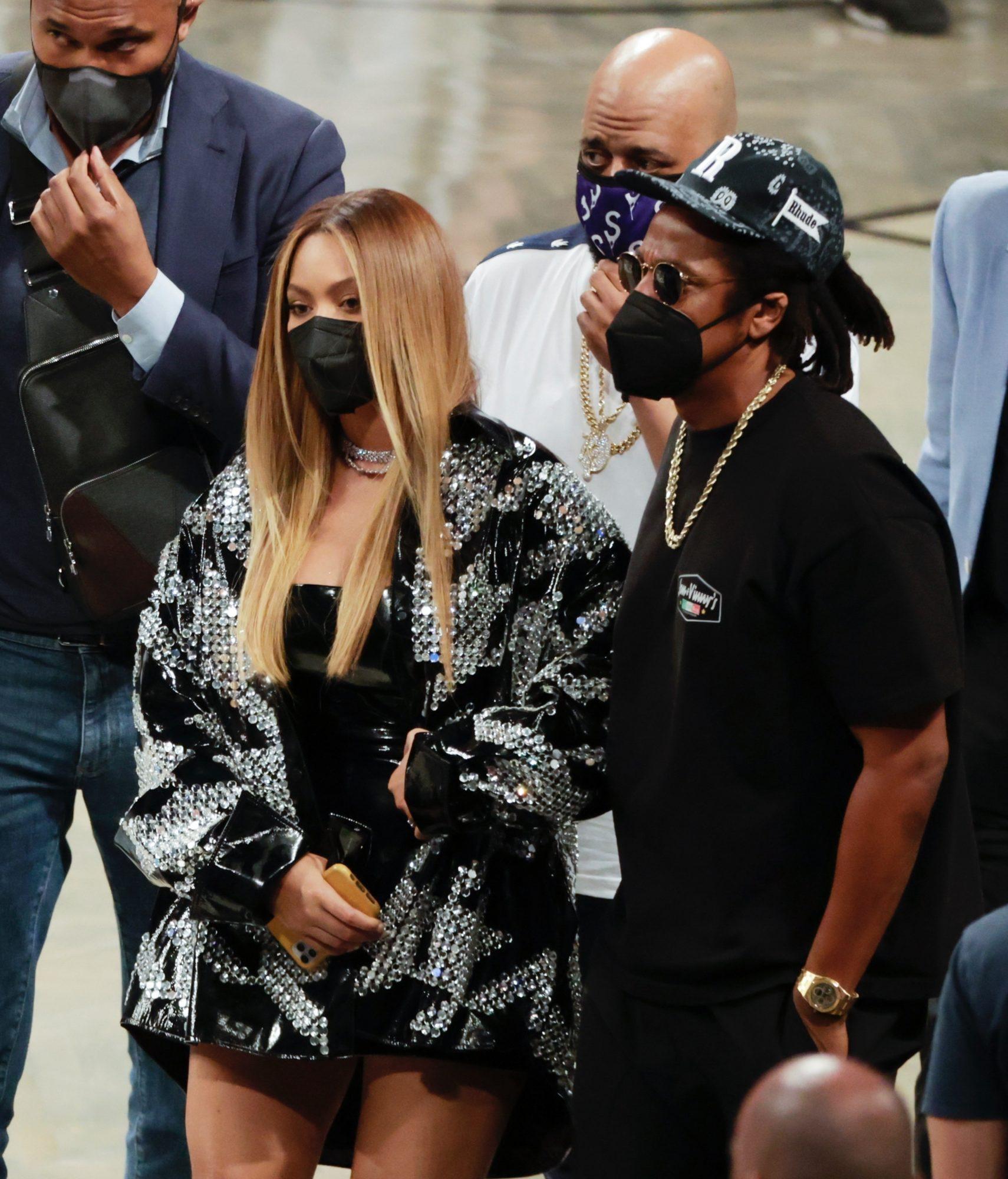 Beyonce & Jay-Z Make an Appearance at the Milwaukee Bucks vs Brooklyn Nets Game