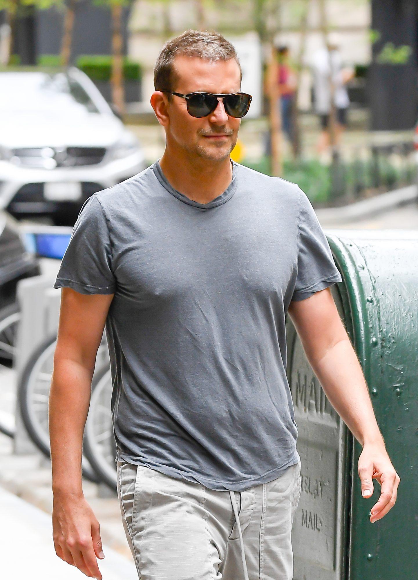 Bradley Cooper is seen walking in soho on June 10, 2021 in New York City.