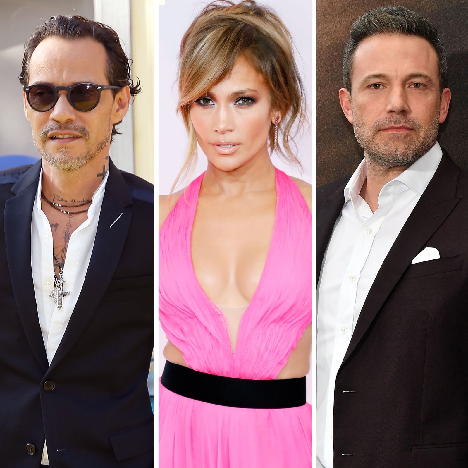 Marc Anthony, Jennifer Lopez y Ben Affleck