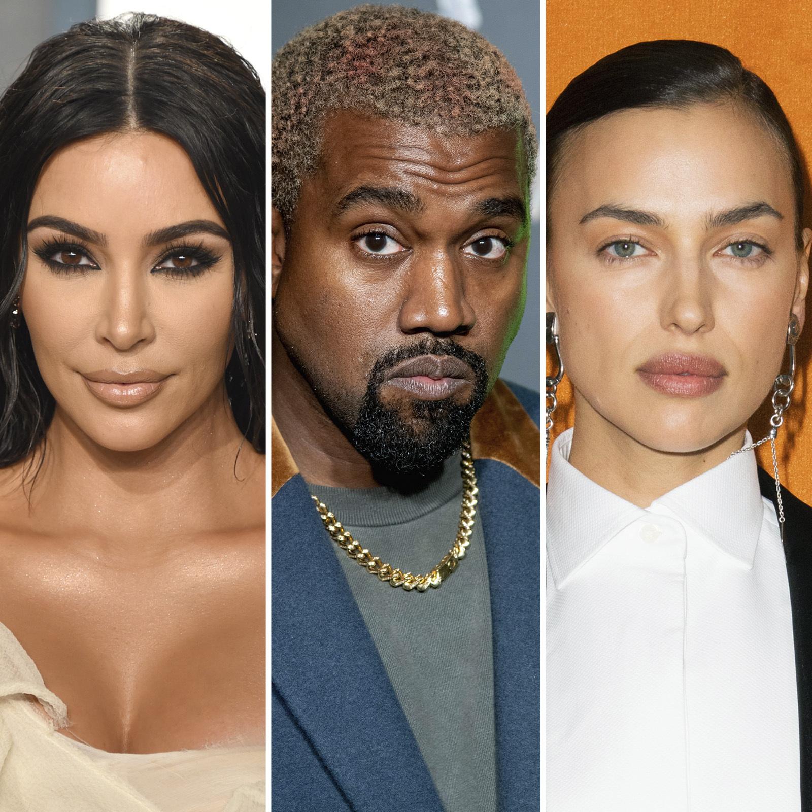 Kim Kardashian, Kanye West y Irina Shayk