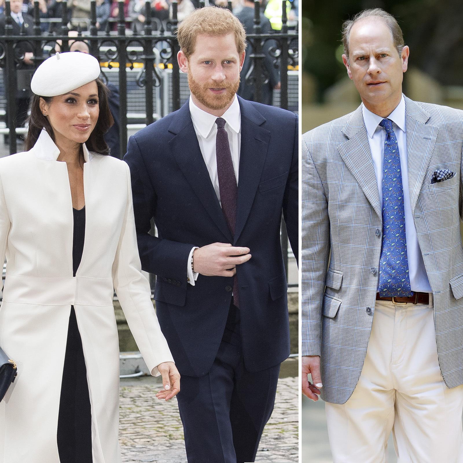 Meghan Markle, Prince Harry y Prince Edward