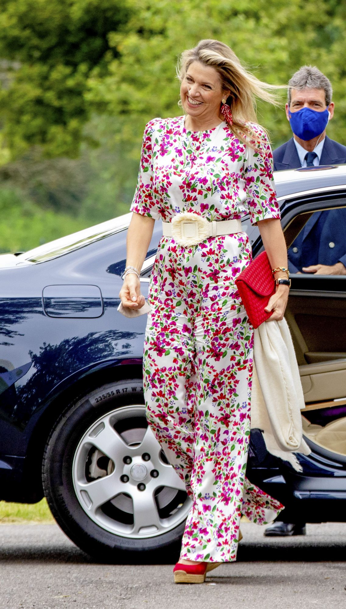 Reina Maxima, look del dia, conjunto con estampado floral