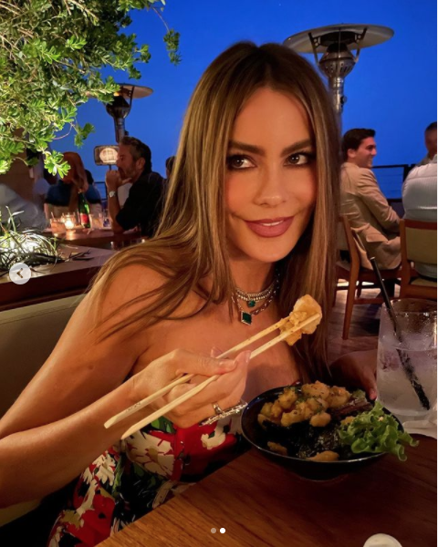 Sofia Vergara look cita romántica