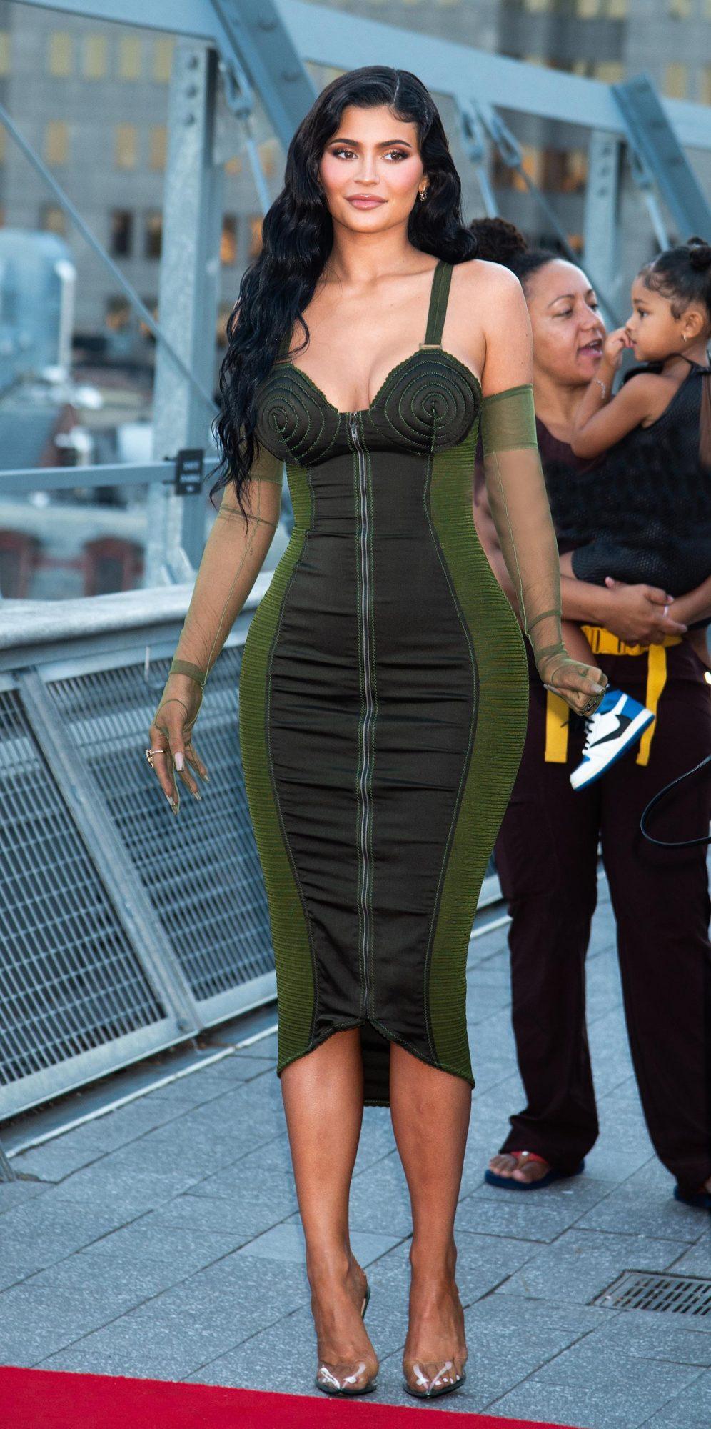Kylie Jenner, vestido verde, New York