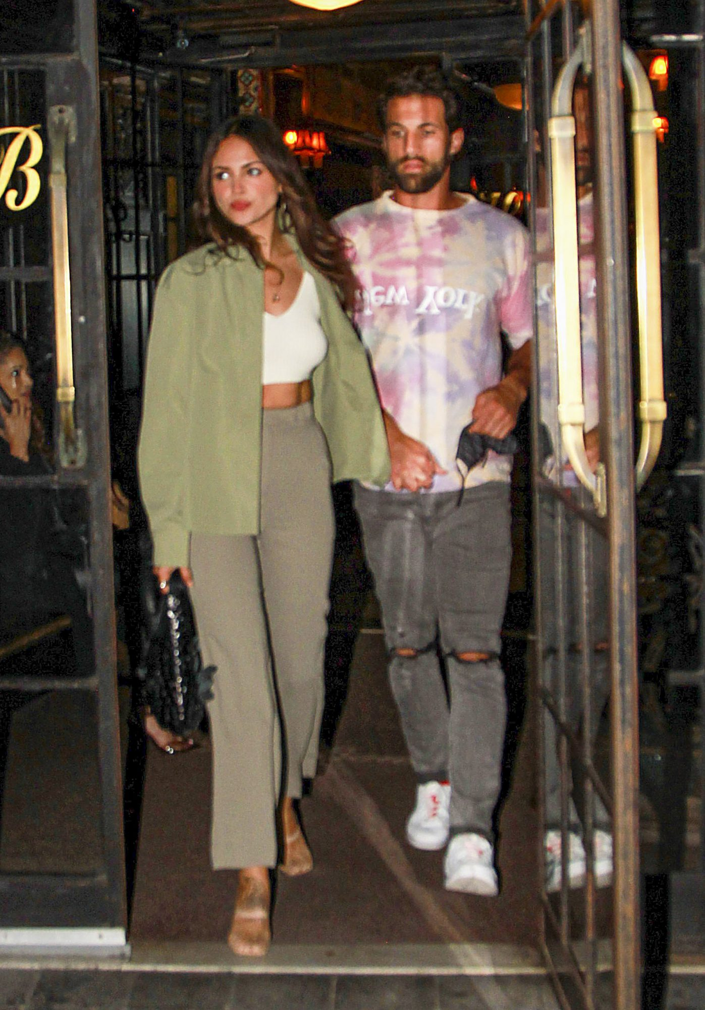 Eiza Gonzalez Gets Ready for a Night out with Paul Rabil in NYC