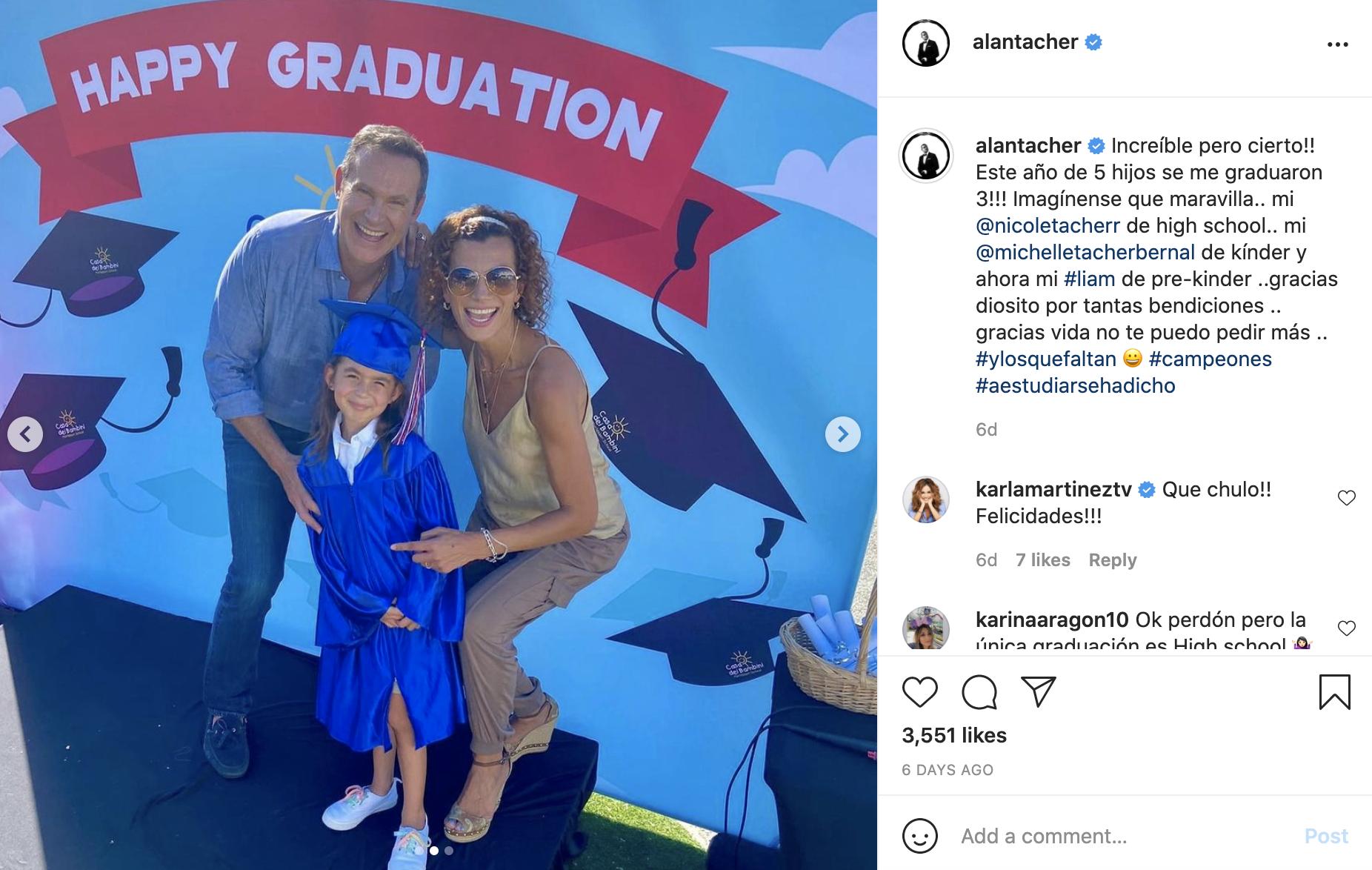 Se gradua Michelle, la hija de Alan Tacher