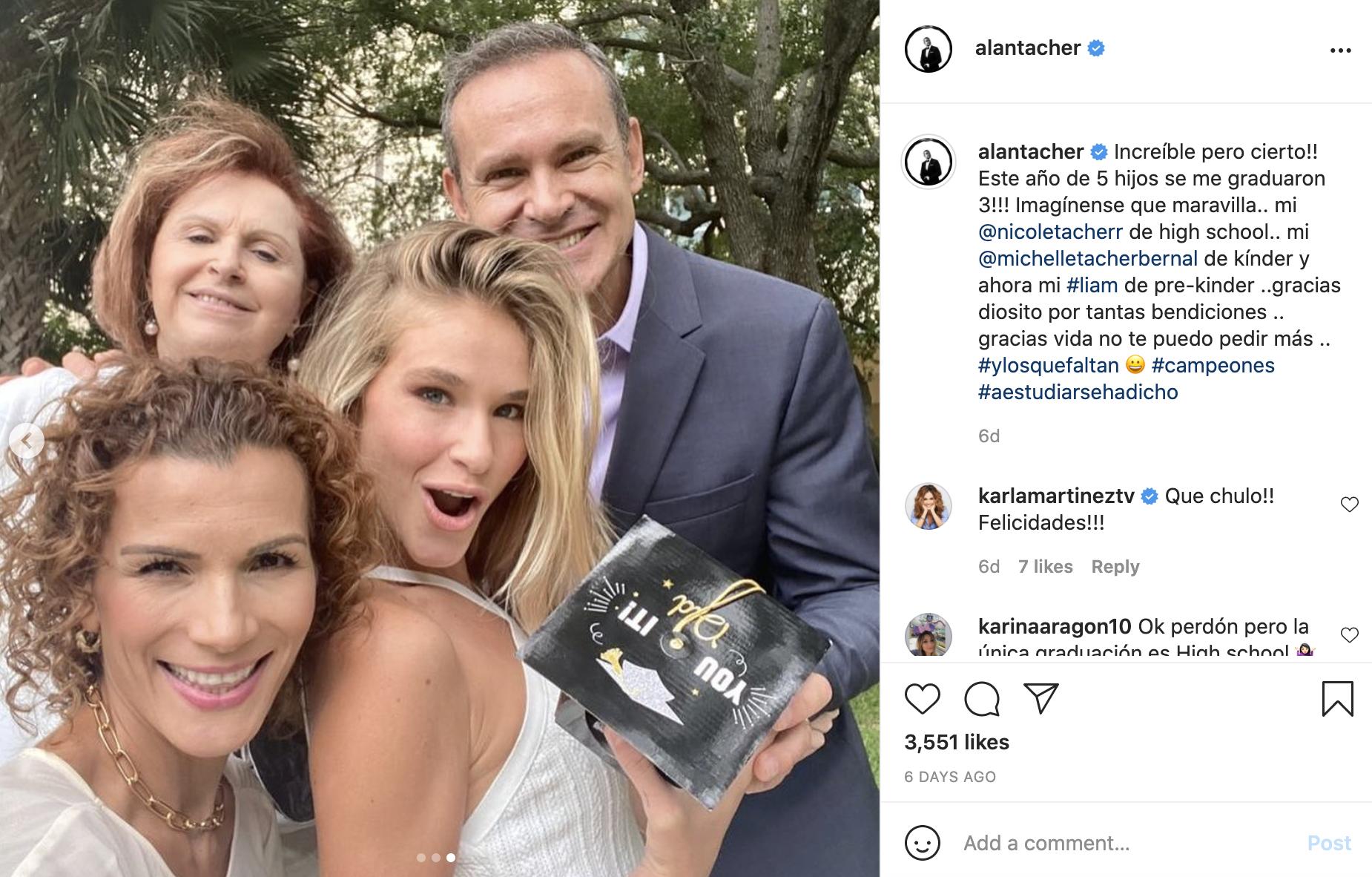 Se gradua Nicole la hija de Alan Tacher