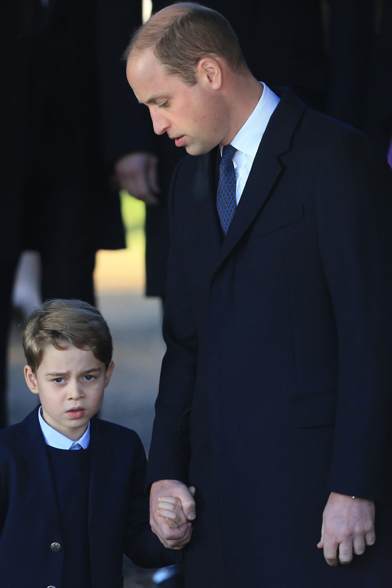 Prince George and Prince William The Royal Family Attend Church On Christmas Day