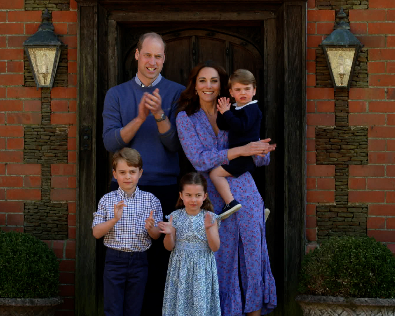 Prince William, Kate Middleton, Prince George, Princess Charlotte and Prince Louis BBC Children In Need and Comic Relief 'Big Night In'