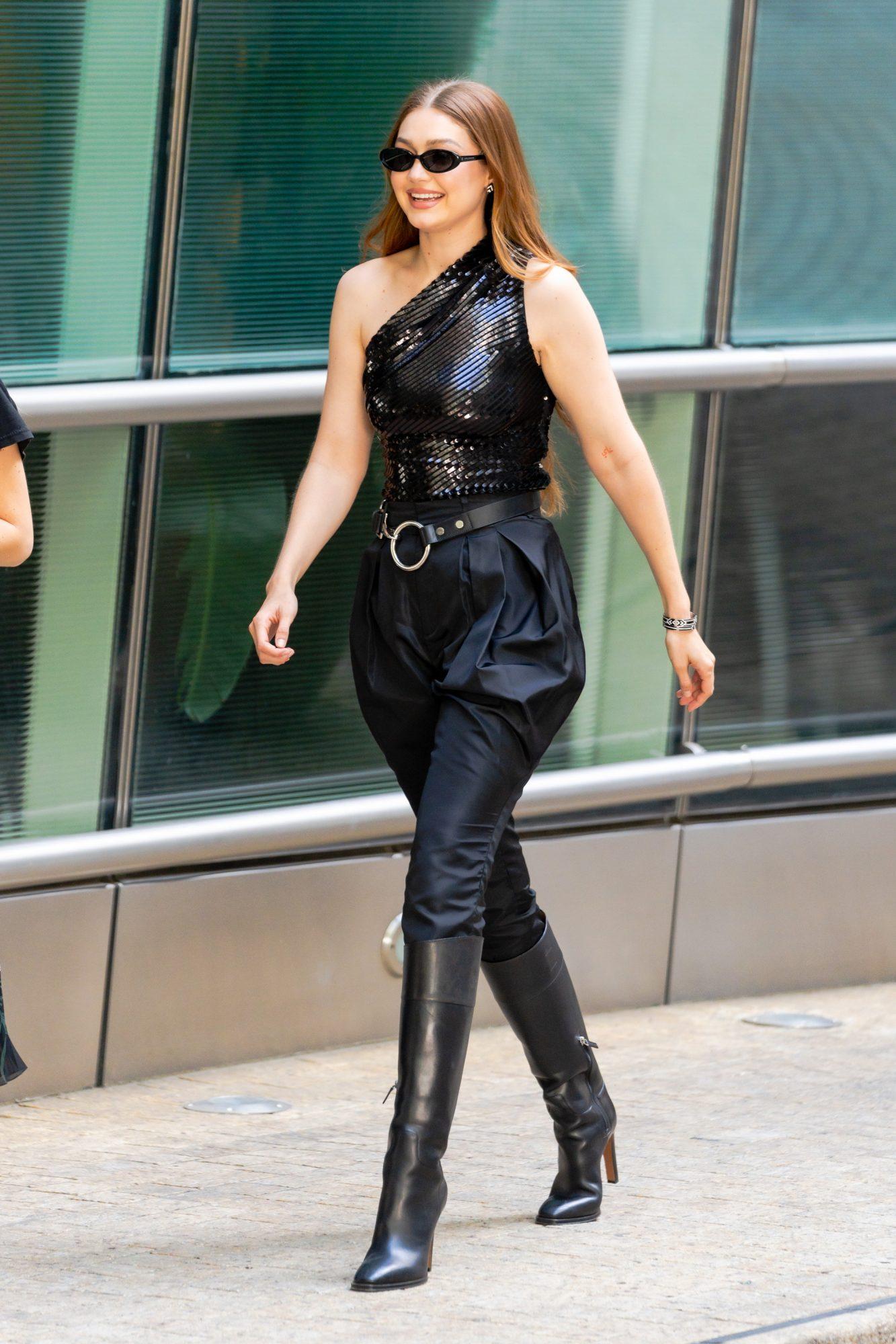 Gigi Hadid, look de negro, New York