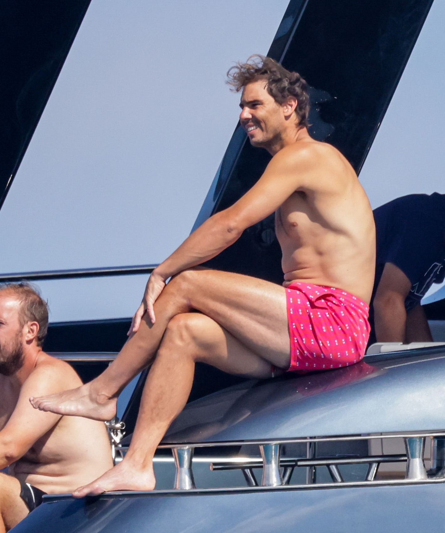 Shirtless Rafael Nadal Relaxes On His Yacht In Ibiza After Taking A Break From Tennis