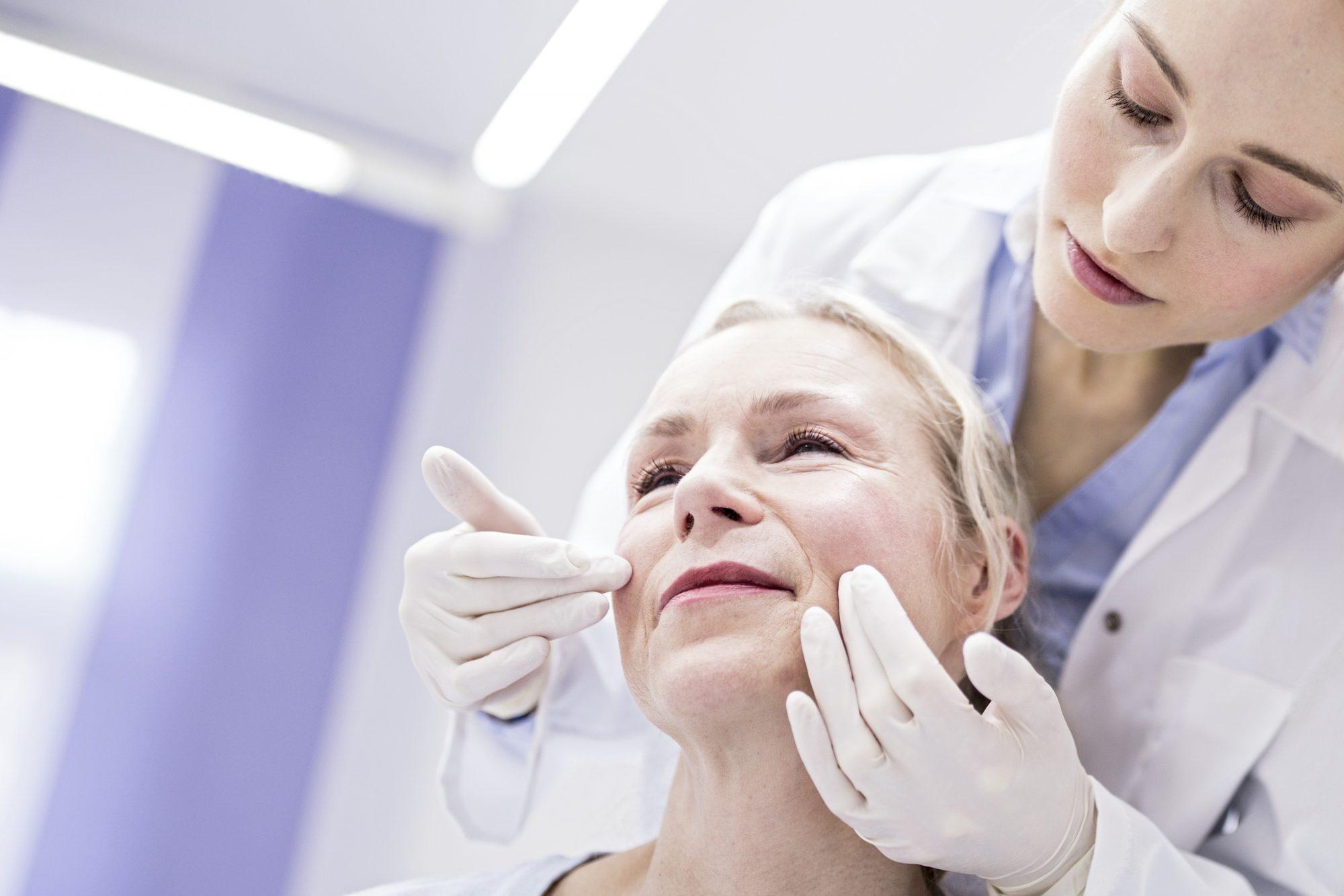Mujer, antiarrugas, envejecimiento