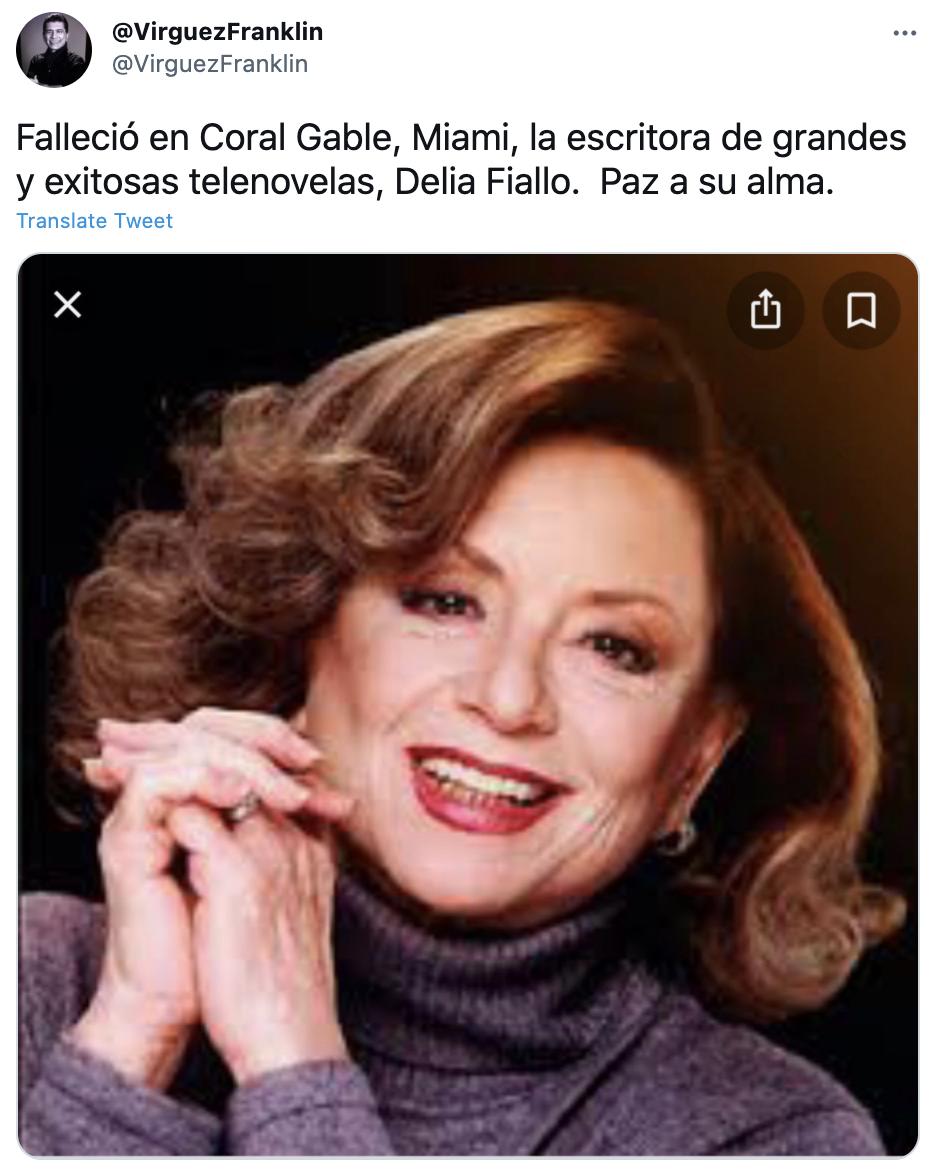 Muere Delia Fiallo