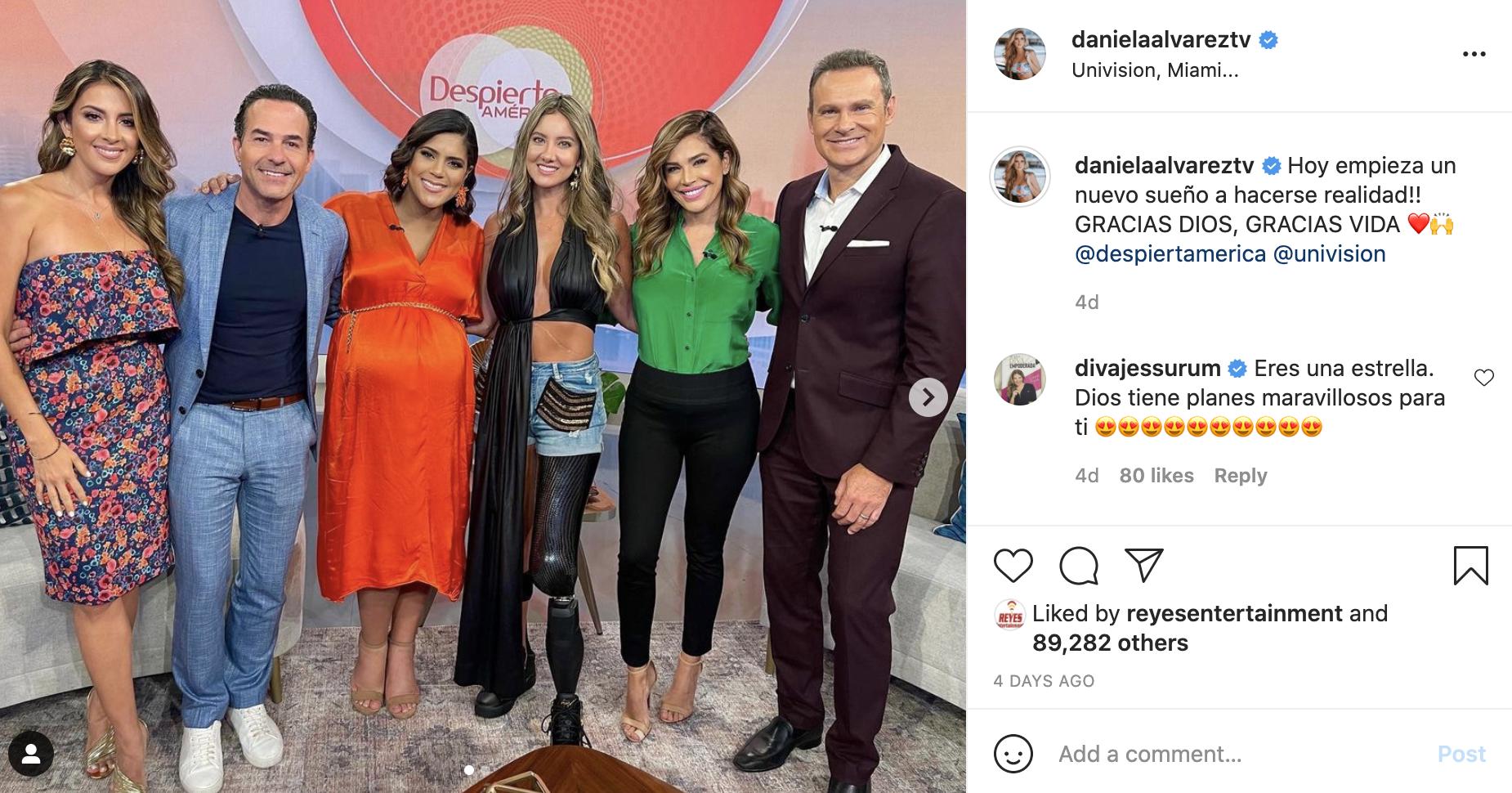 Daniella Alvarez en Despierta America de Univision