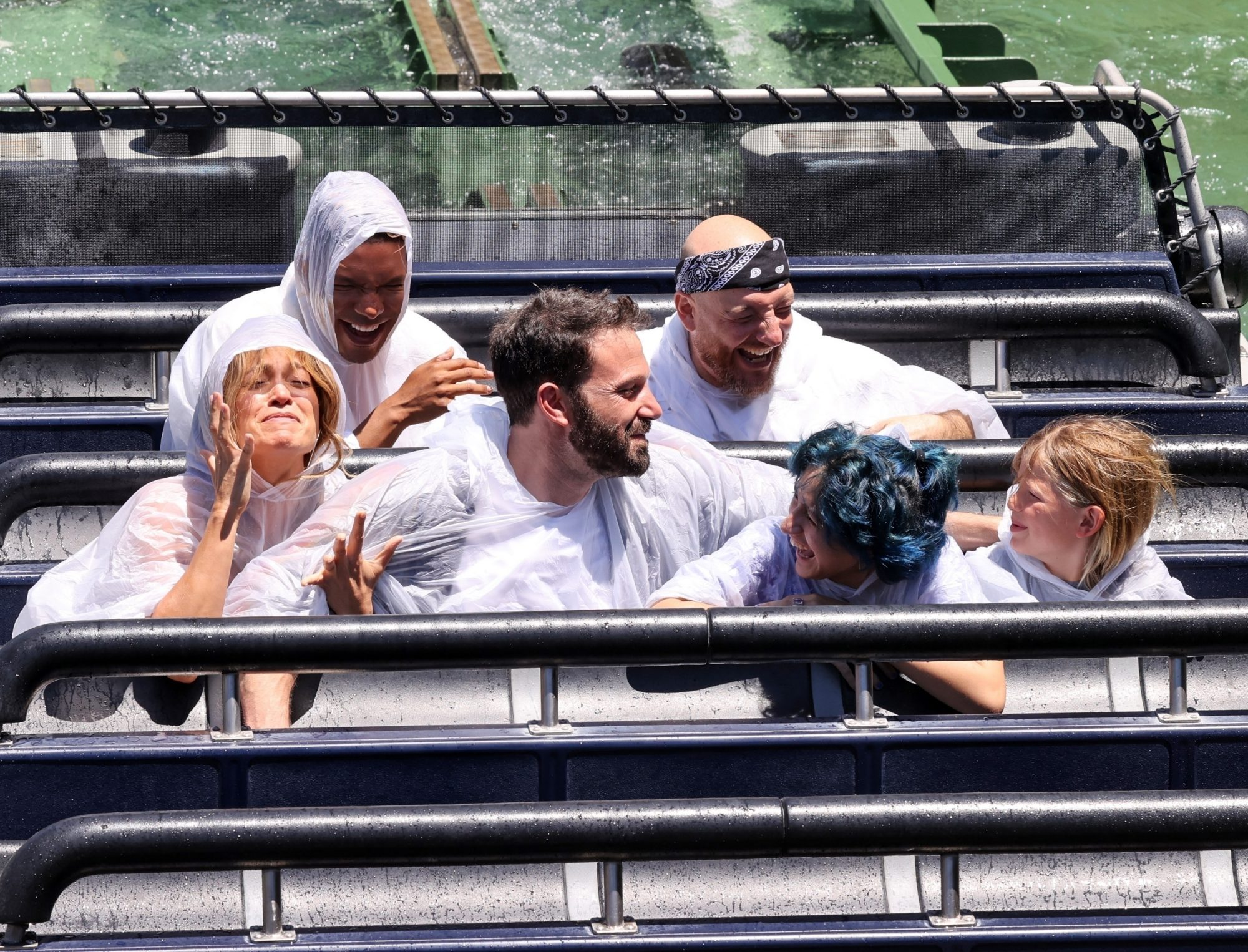 Jennifer Lopez and Ben Affleck take their kids and their love to Universal Studios Hollywood