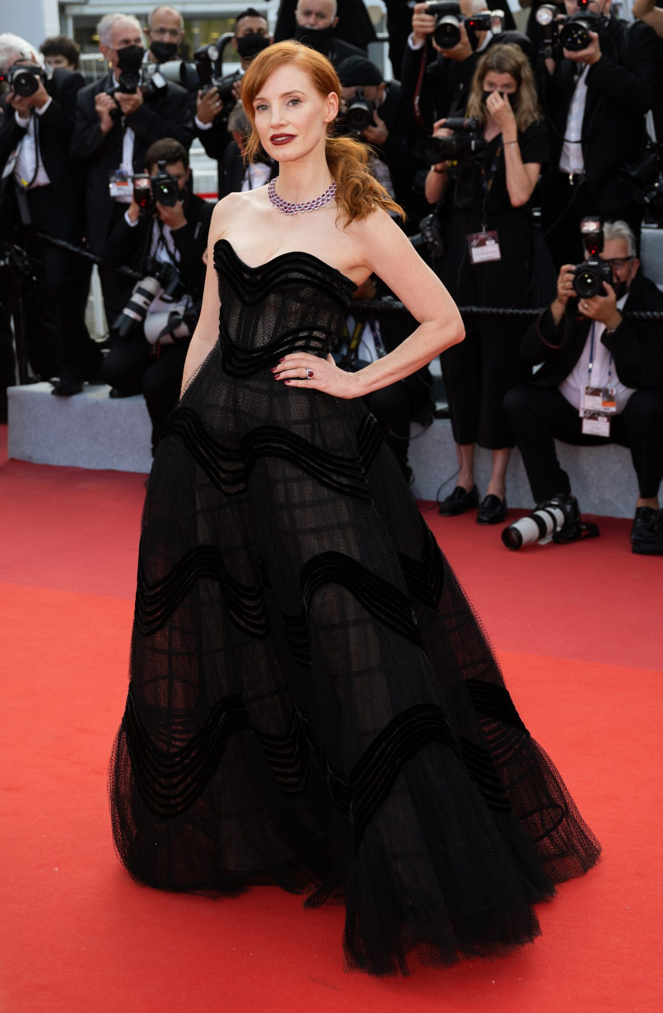 Festival de cine de Cannes alfombra roja, Jessica Chastain