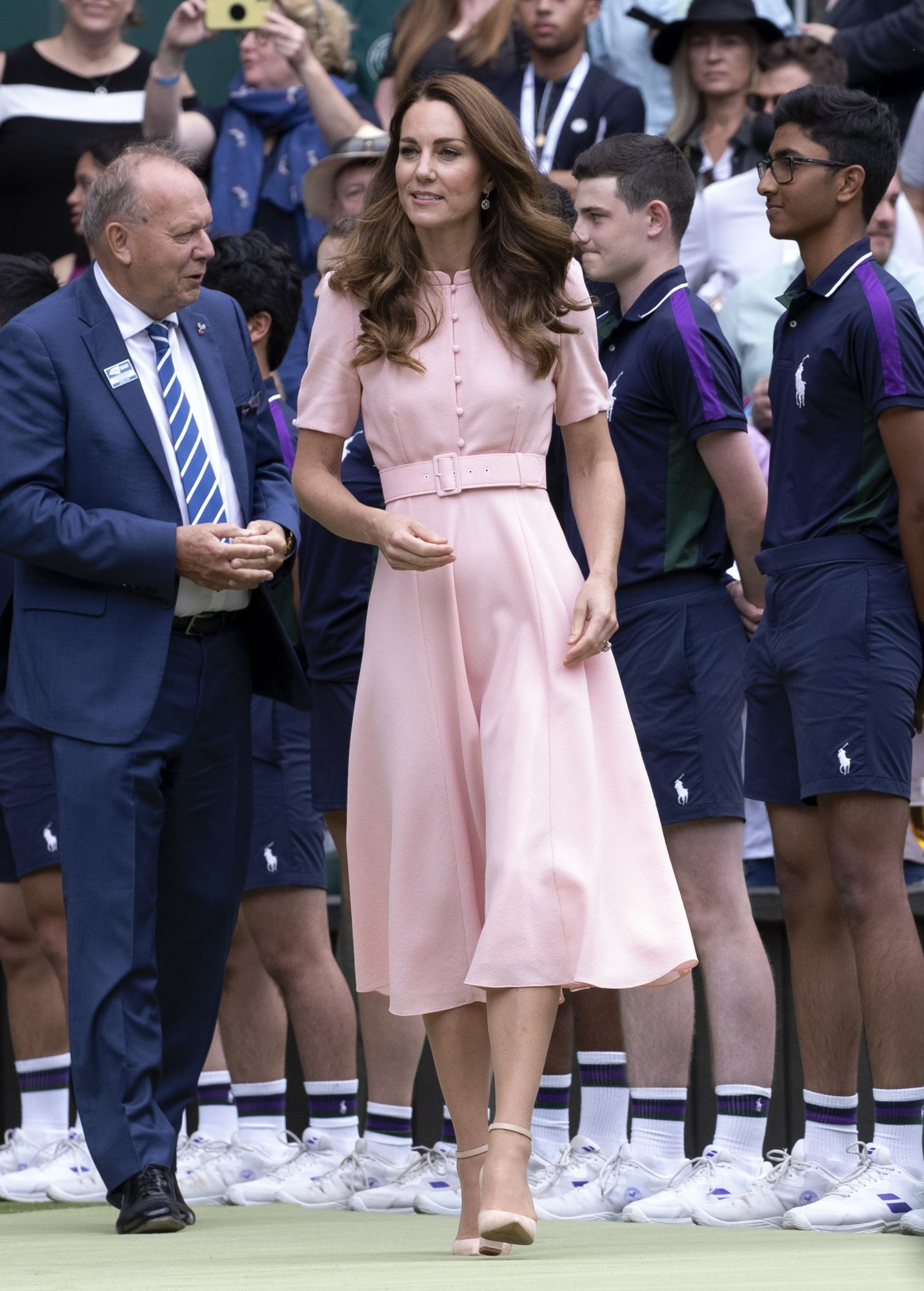 Kate Middleton, vestido rosadodd en Wimblendon