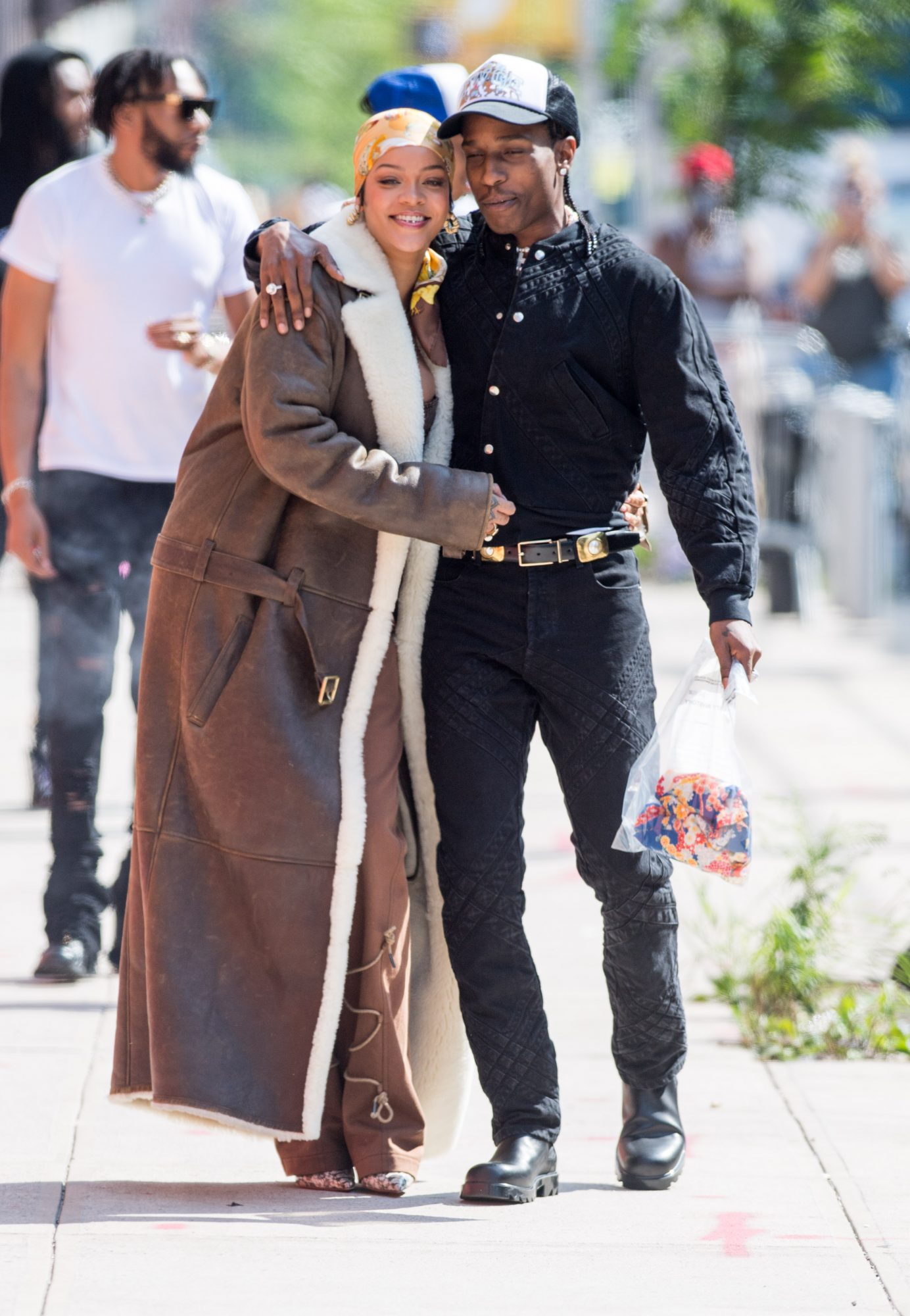 Rihanna and A$AP Rocky Share Some PDA During a Photoshoot in NYC