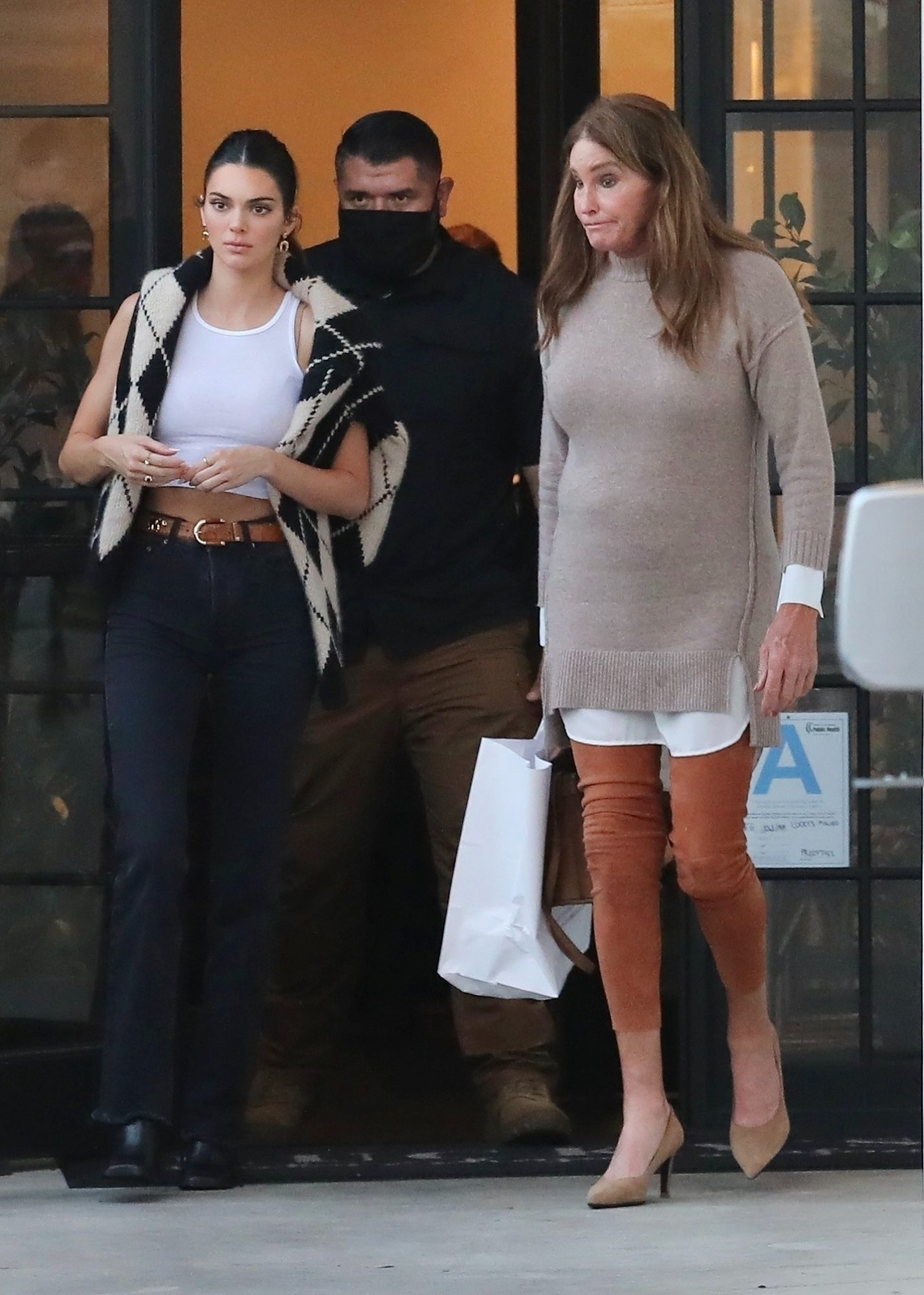 Kendall and Caitlyn Jenner Have Dinner Together at Lucky's in Malibu