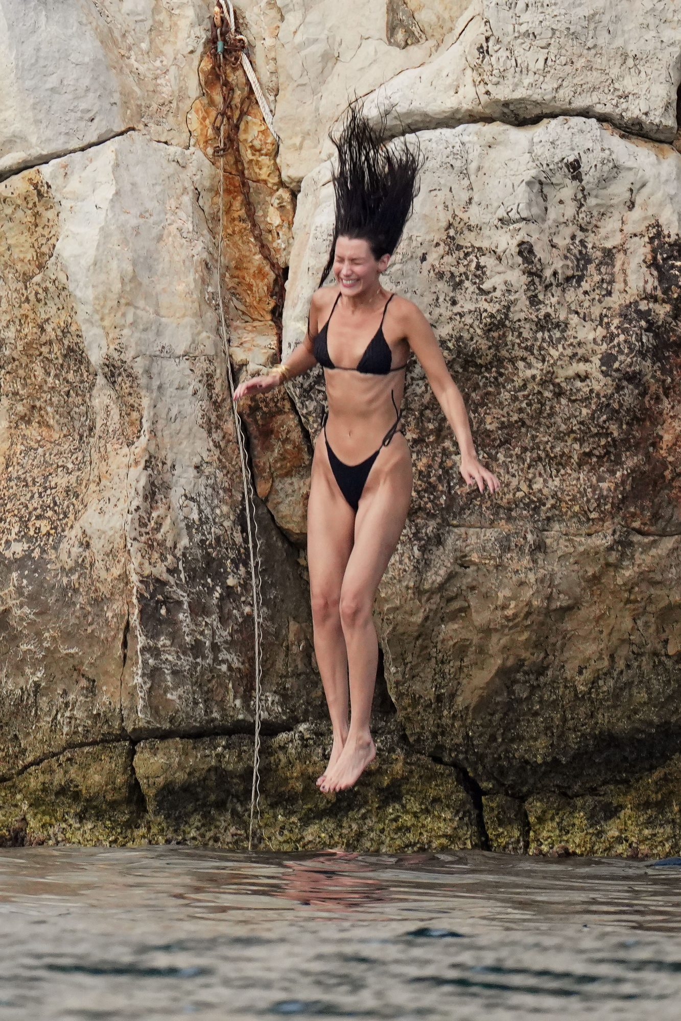 Bella Hadid Shows Off her Phenomenal Figure as she Leaps into the Sea with New Boyfriend in Antibes