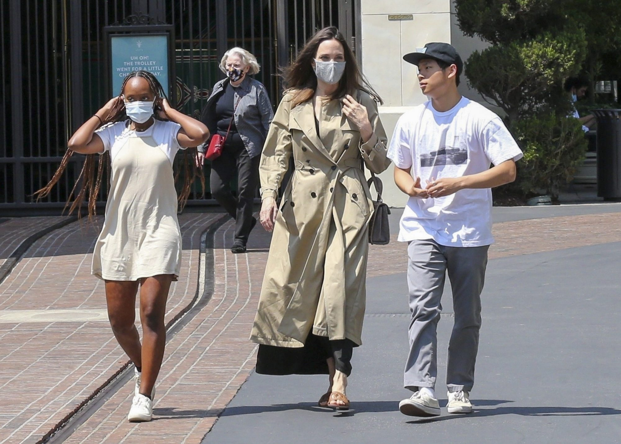 Angelina Jolie Goes Shopping with Zahara and Pax at The Grove in LA