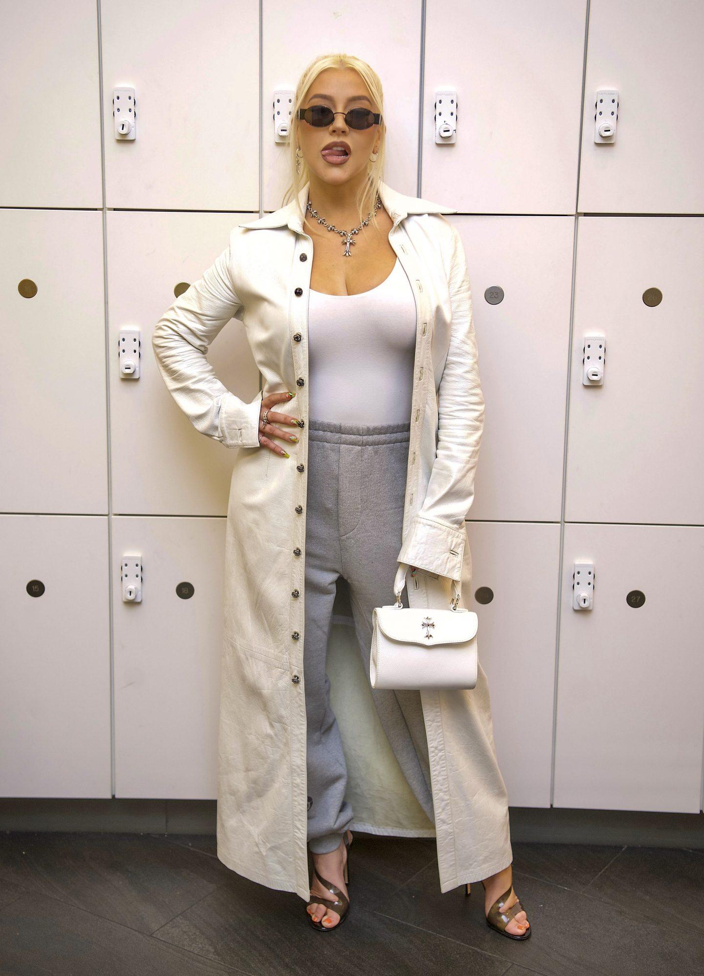 Christina Aguilera Soul Cycle atuendo deportivo