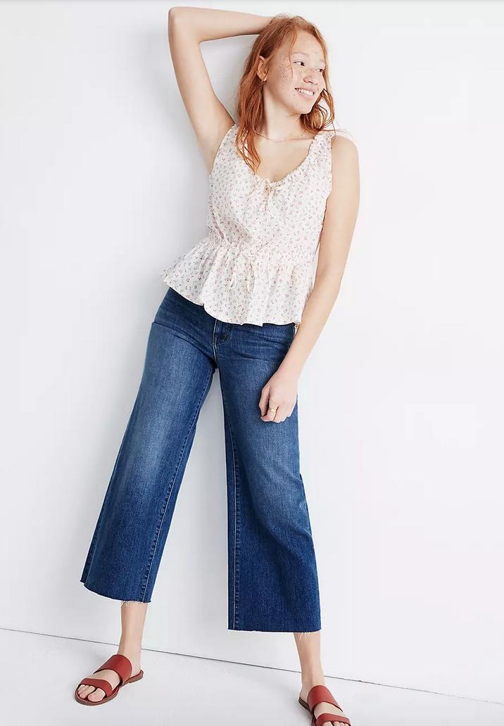 jeans cropped, jeans de talle alto