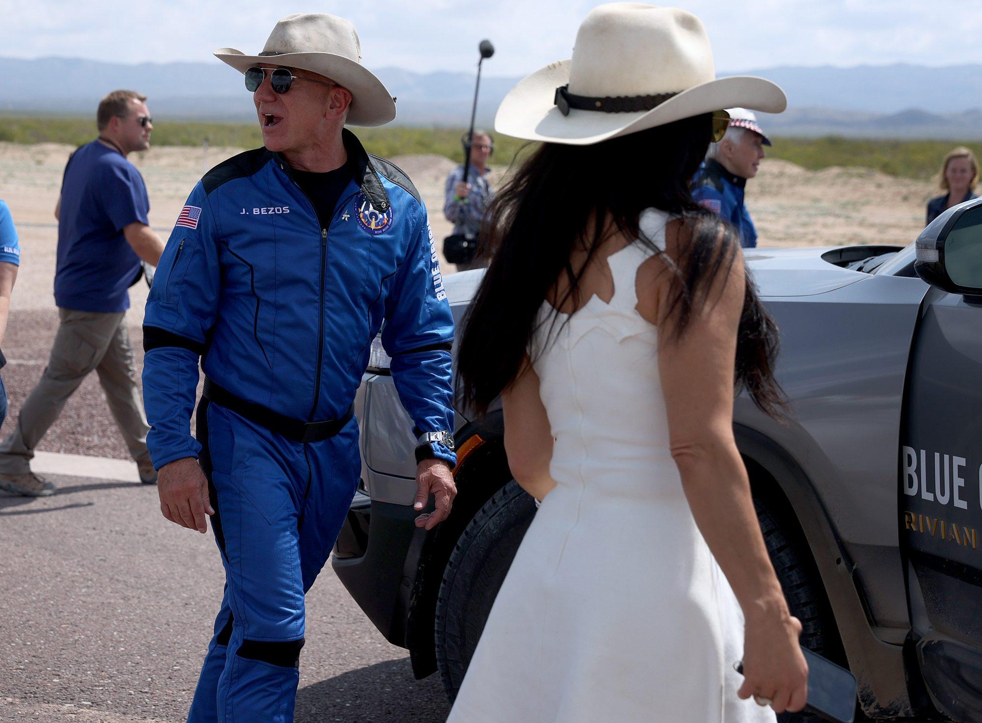 Lauren Sanchez y Jeff Bezos