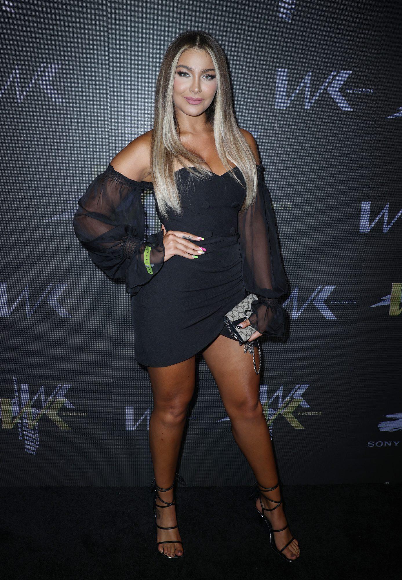 Migbelis castellanos, sexy vestido negro, miami